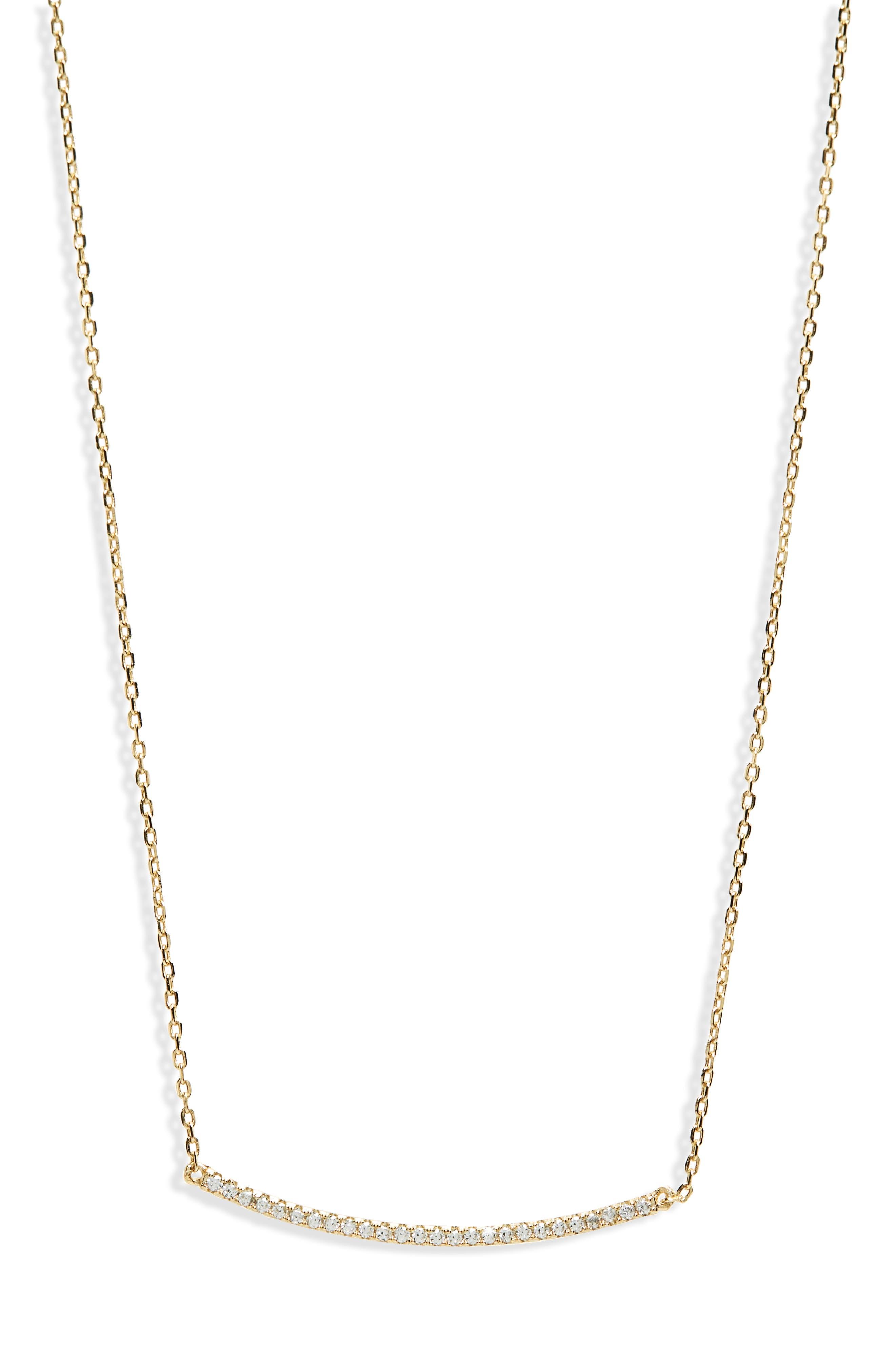 Pavé Bar Necklace,                         Main,                         color, 710
