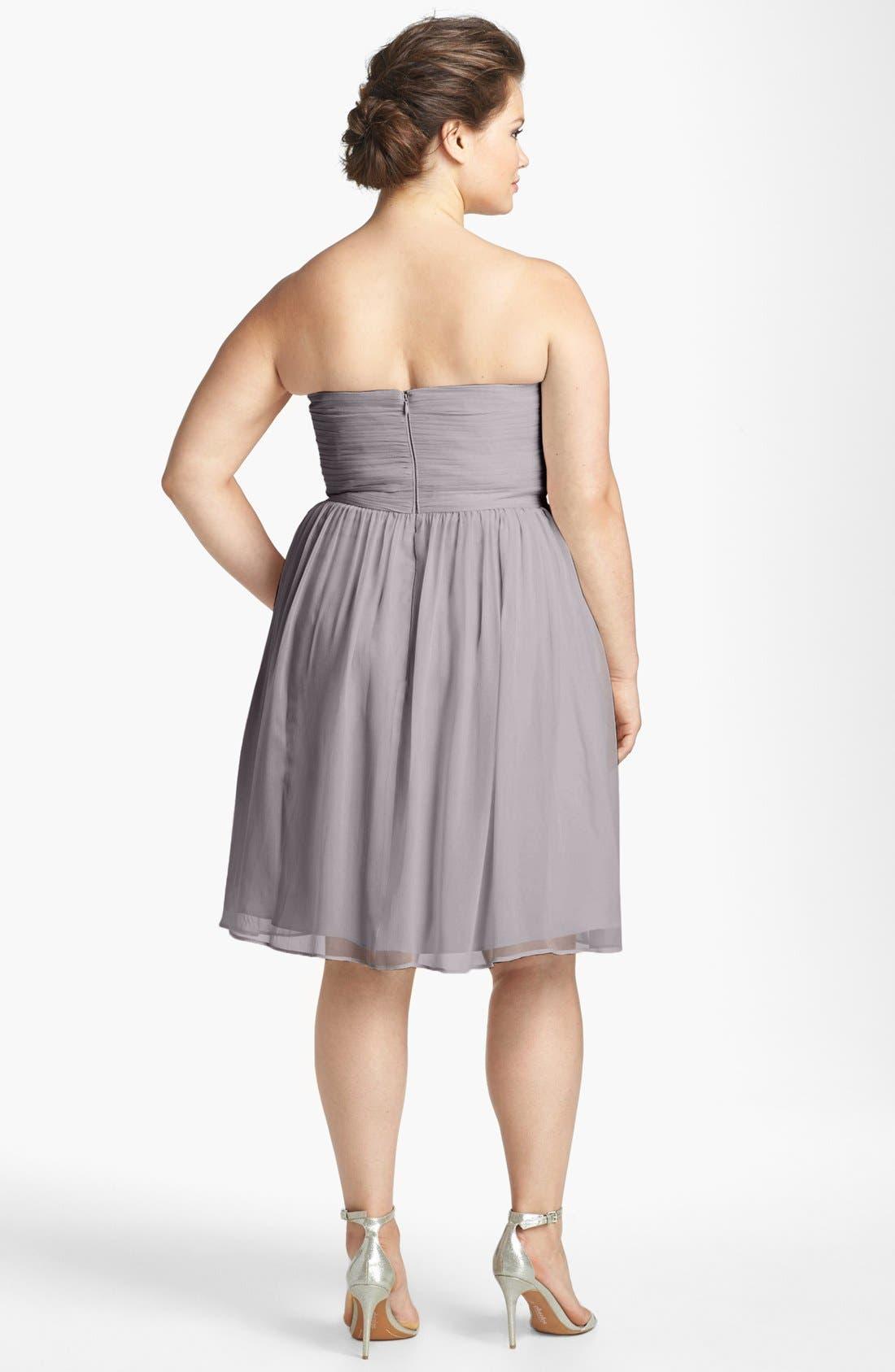 'Morgan' Strapless Silk Chiffon Dress,                             Alternate thumbnail 42, color,