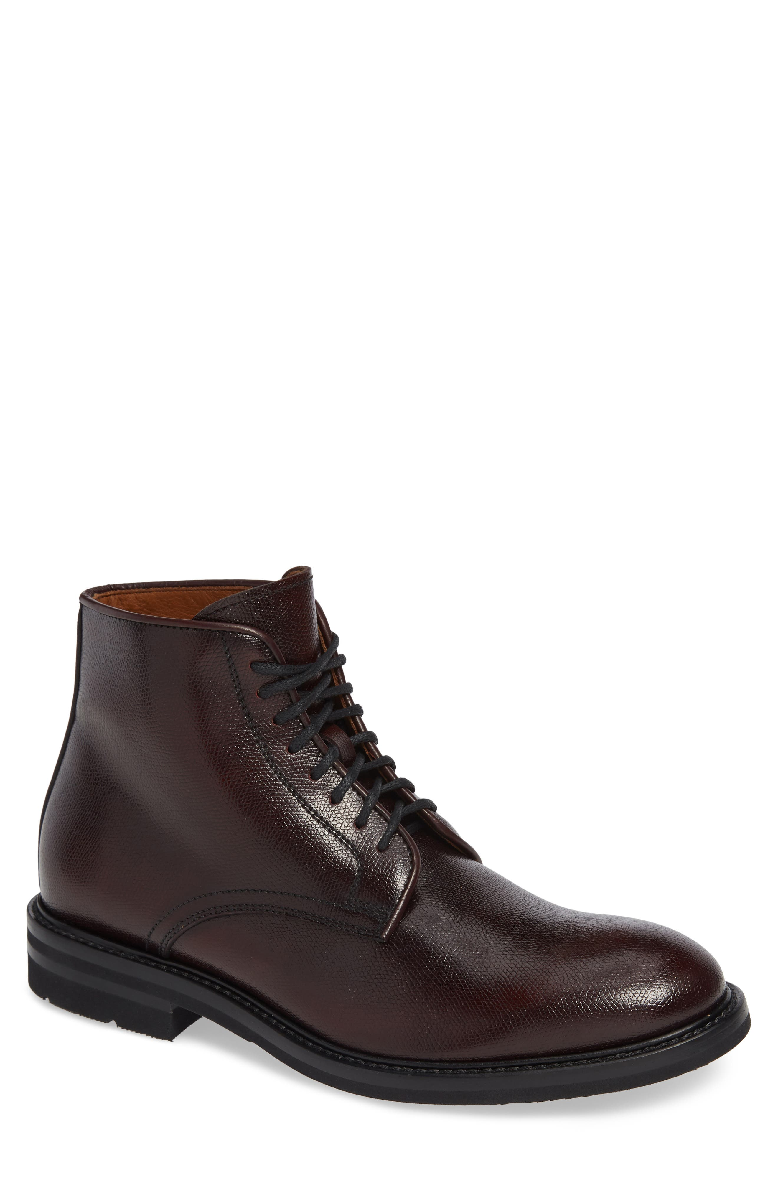 Aquatalia Renzo Water Resistant Plain Toe Waterproof Boot, Red