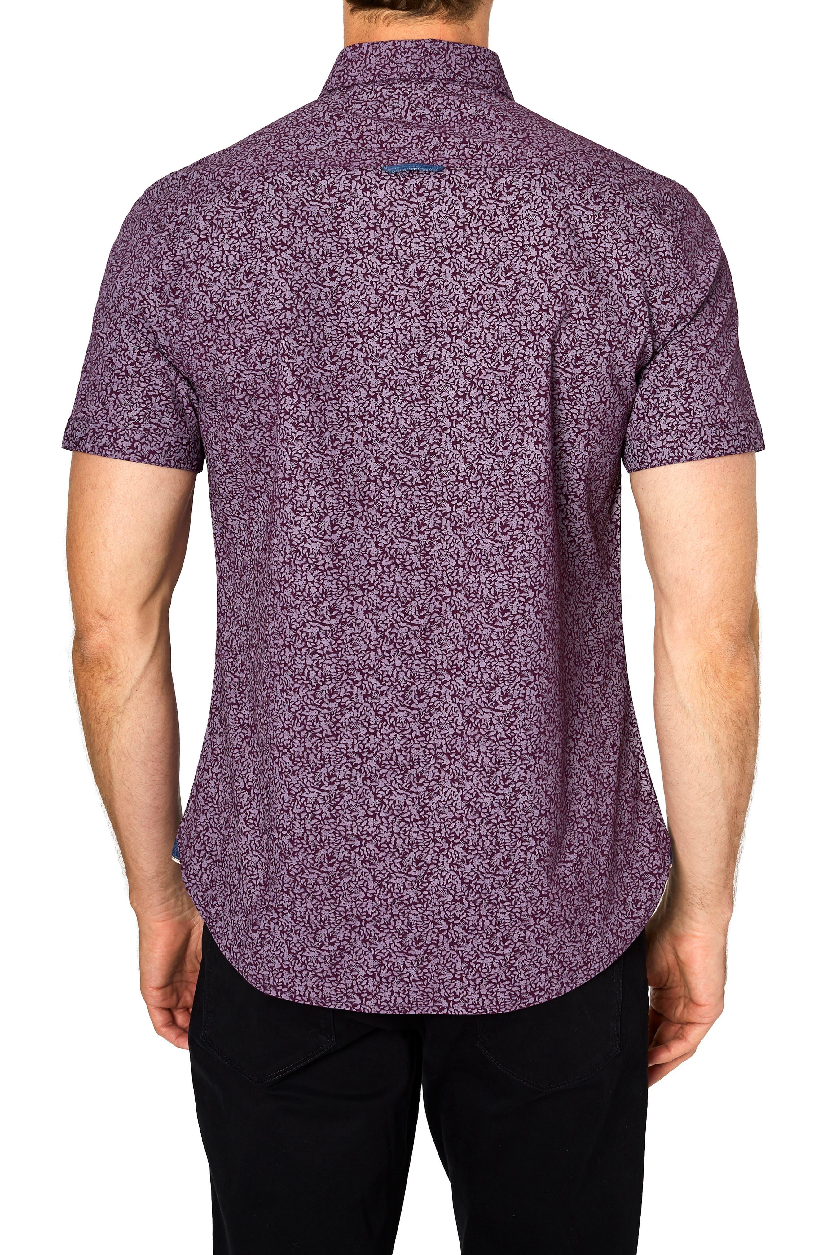 Flashback Trim Fit Sport Shirt,                             Alternate thumbnail 3, color,                             502