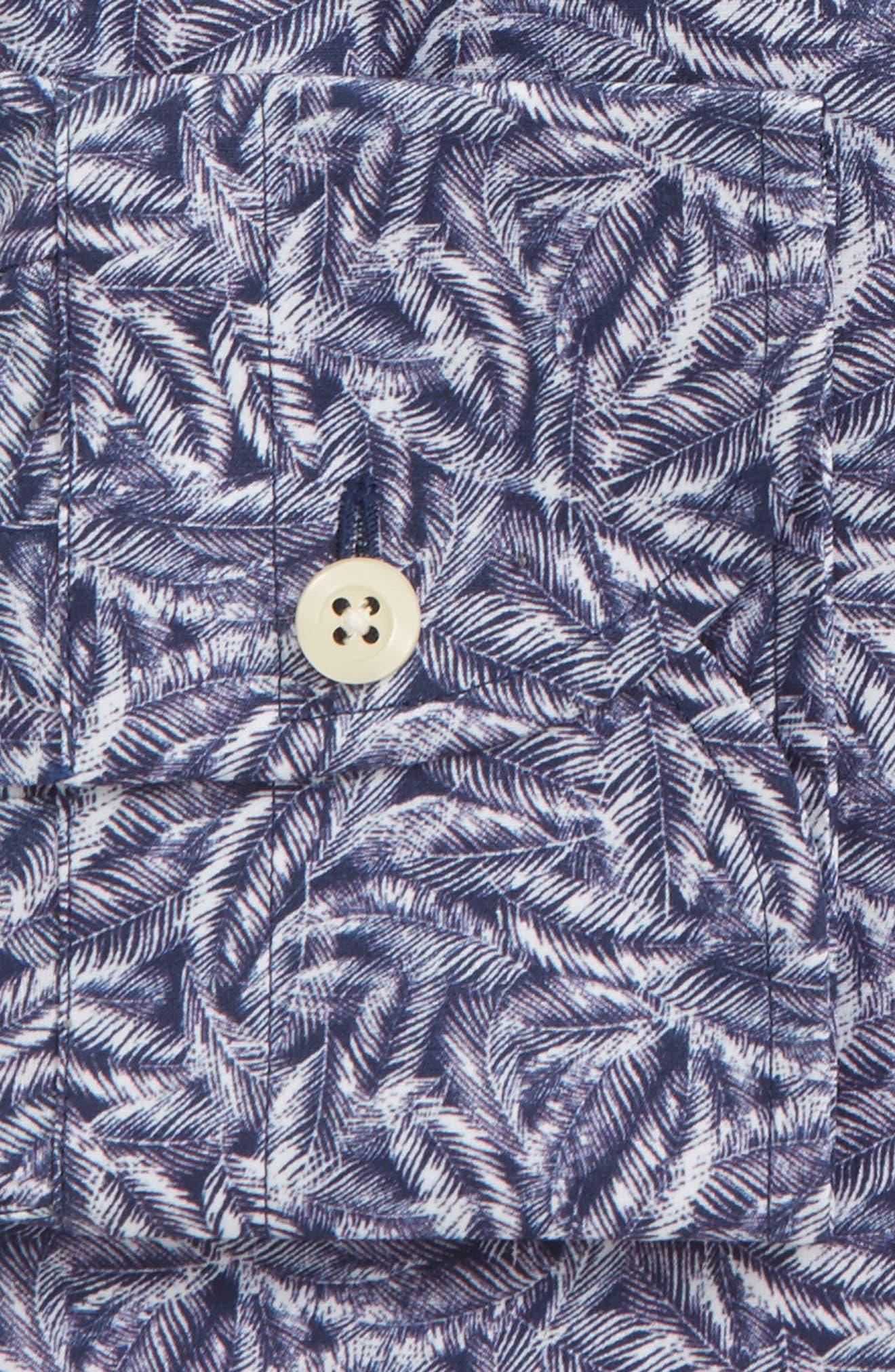 Garnaby Slim Fit Print Dress Shirt,                             Alternate thumbnail 6, color,                             400
