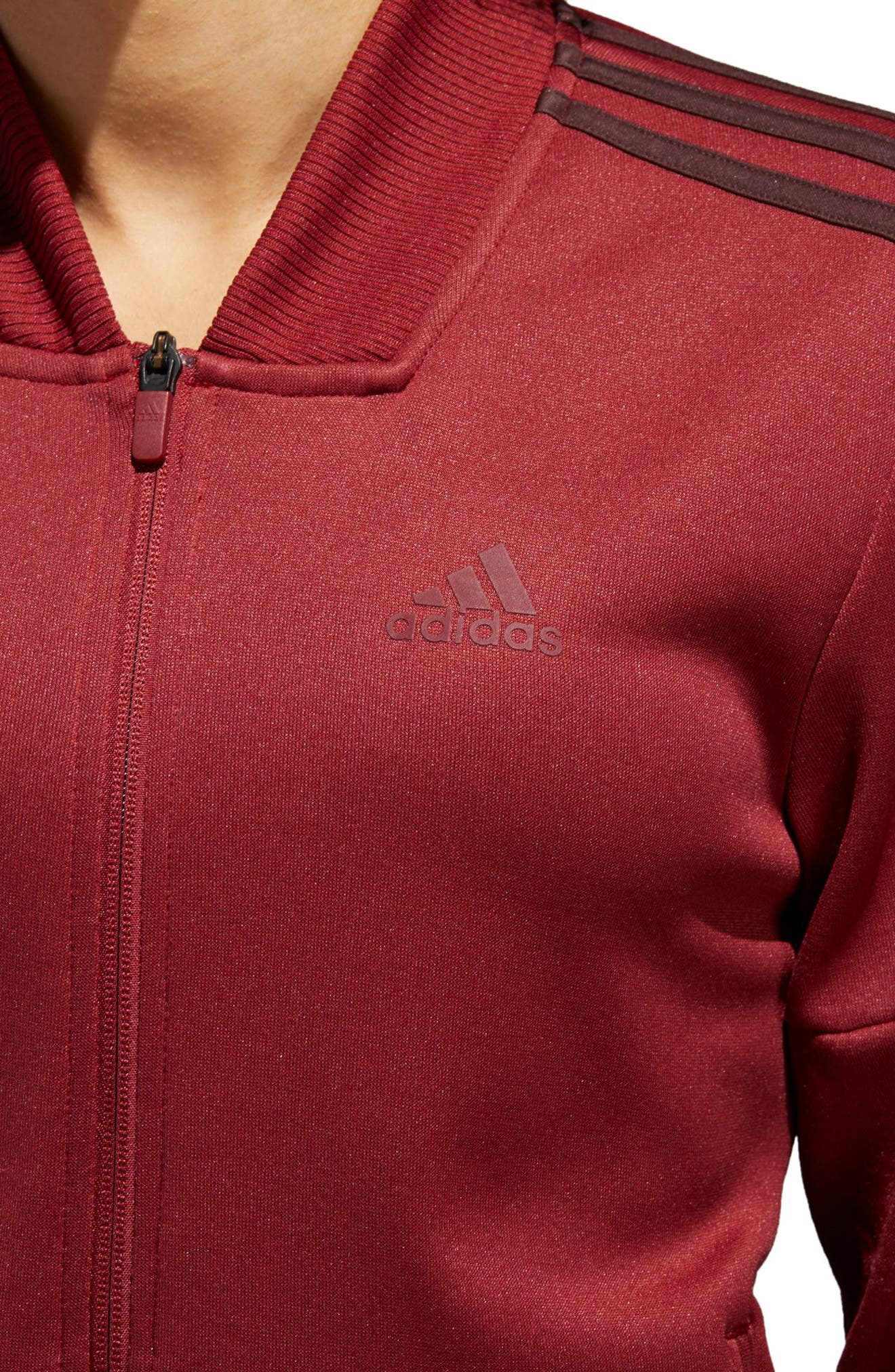 Snap Hem Track Jacket,                             Alternate thumbnail 5, color,                             NOBLE MAROON/ NIGHT RED