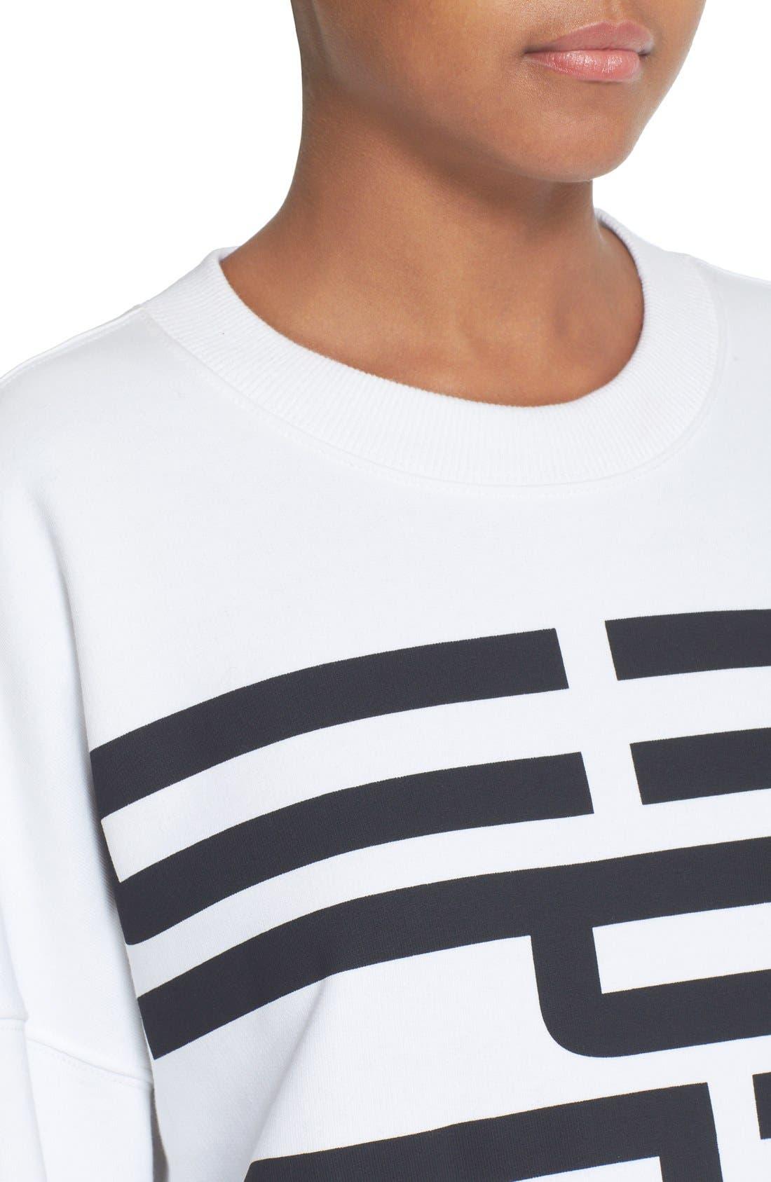 Graphic Cotton Sweatshirt,                             Alternate thumbnail 4, color,                             100