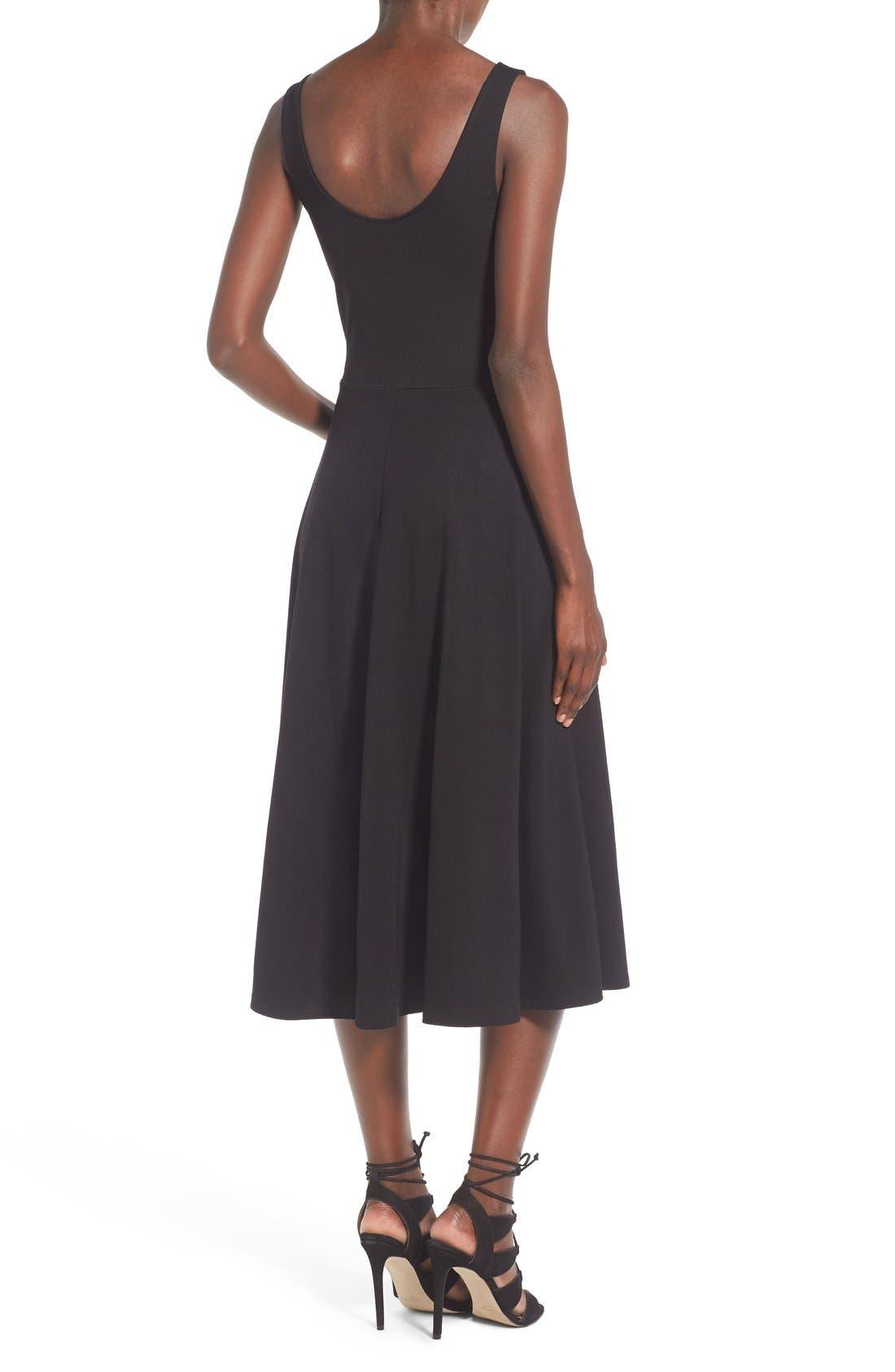 Stretch Knit Midi Dress,                             Alternate thumbnail 27, color,