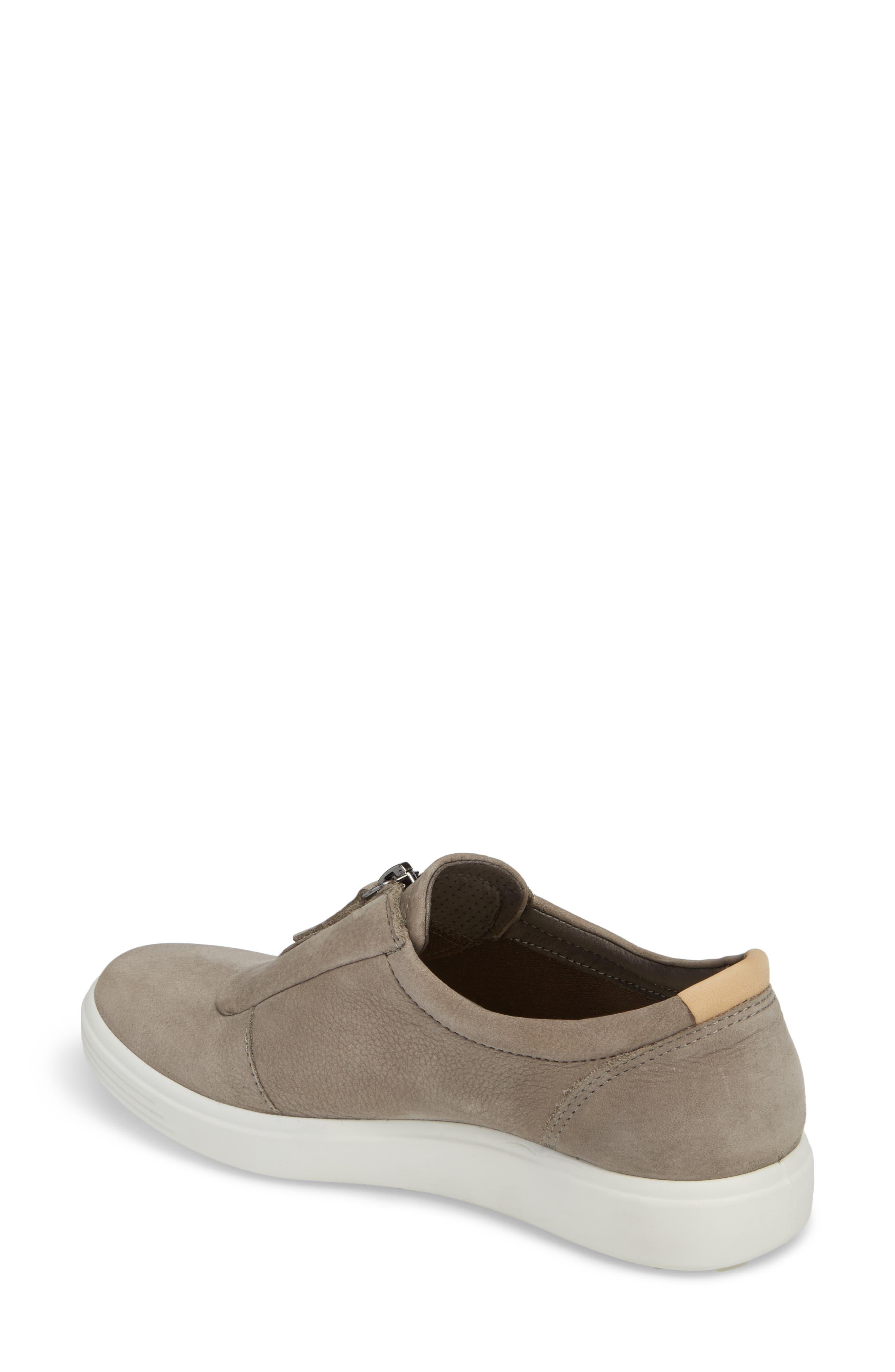 Soft 7 Slip-On Sneaker,                             Alternate thumbnail 2, color,                             WARM GREY LEATHER