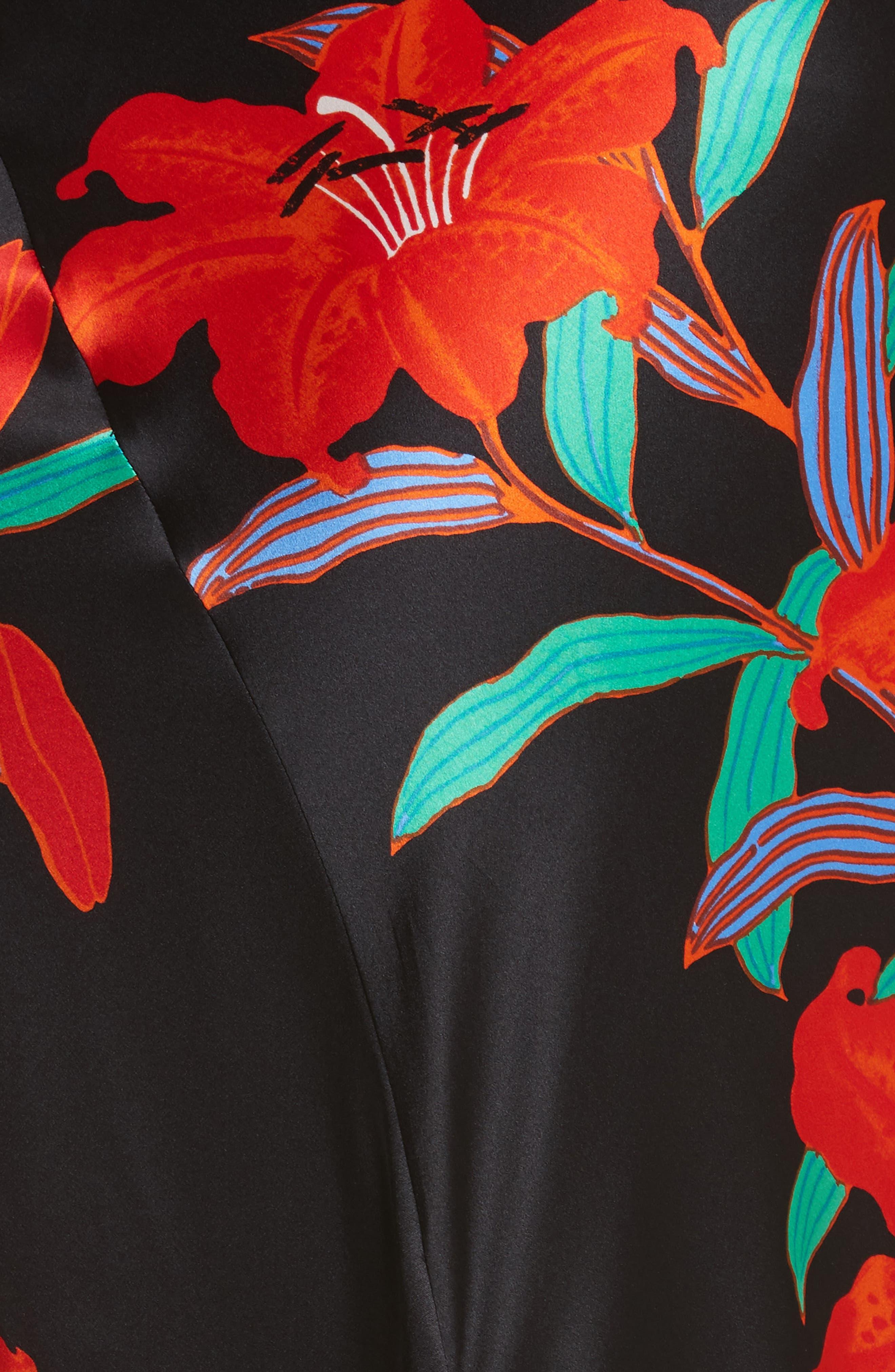 Diane von Furstenberg Asymmetrical Knotted Gown,                             Alternate thumbnail 5, color,                             001
