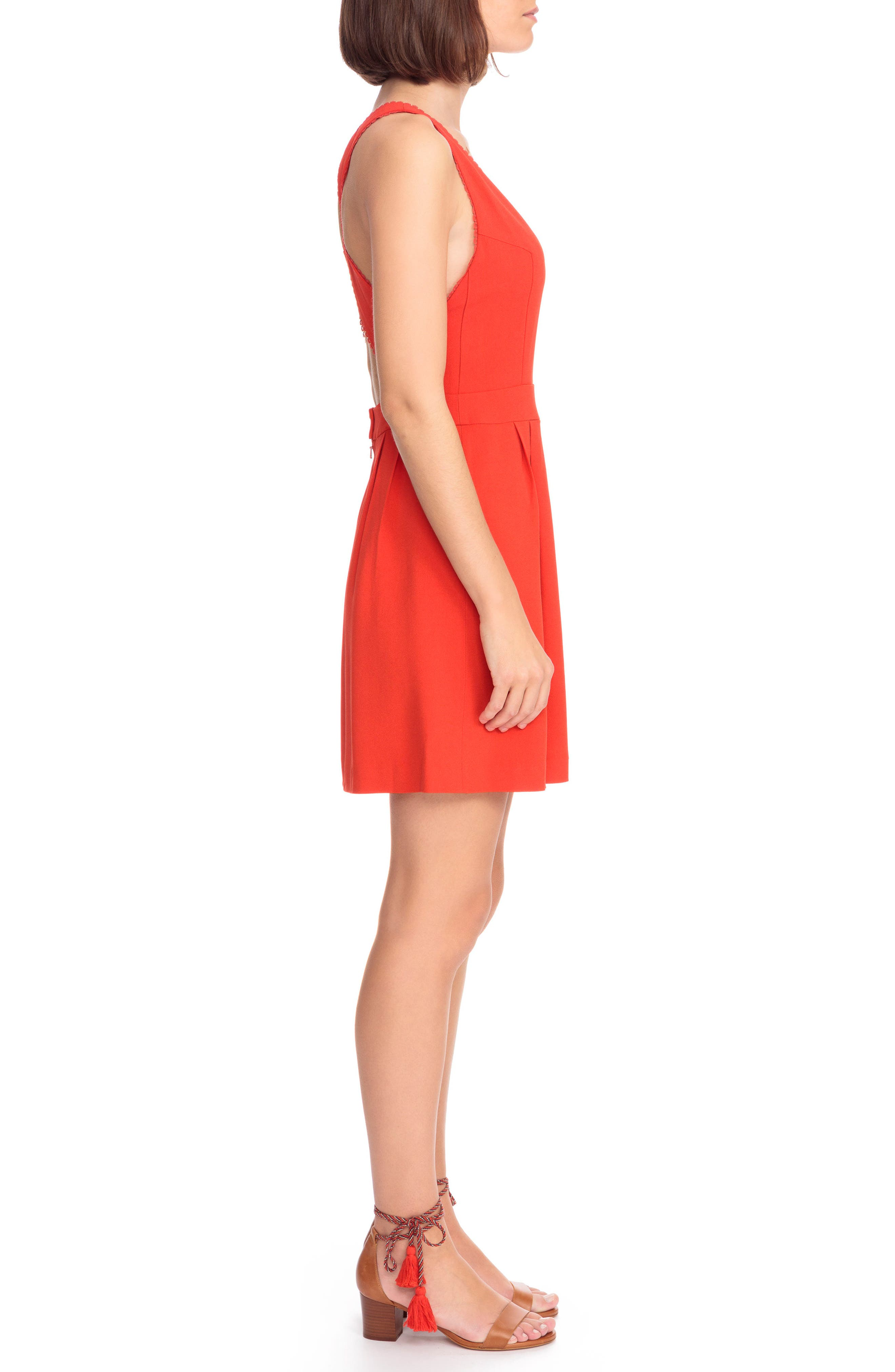 Alya Crisscross A-Line Dress,                             Alternate thumbnail 6, color,