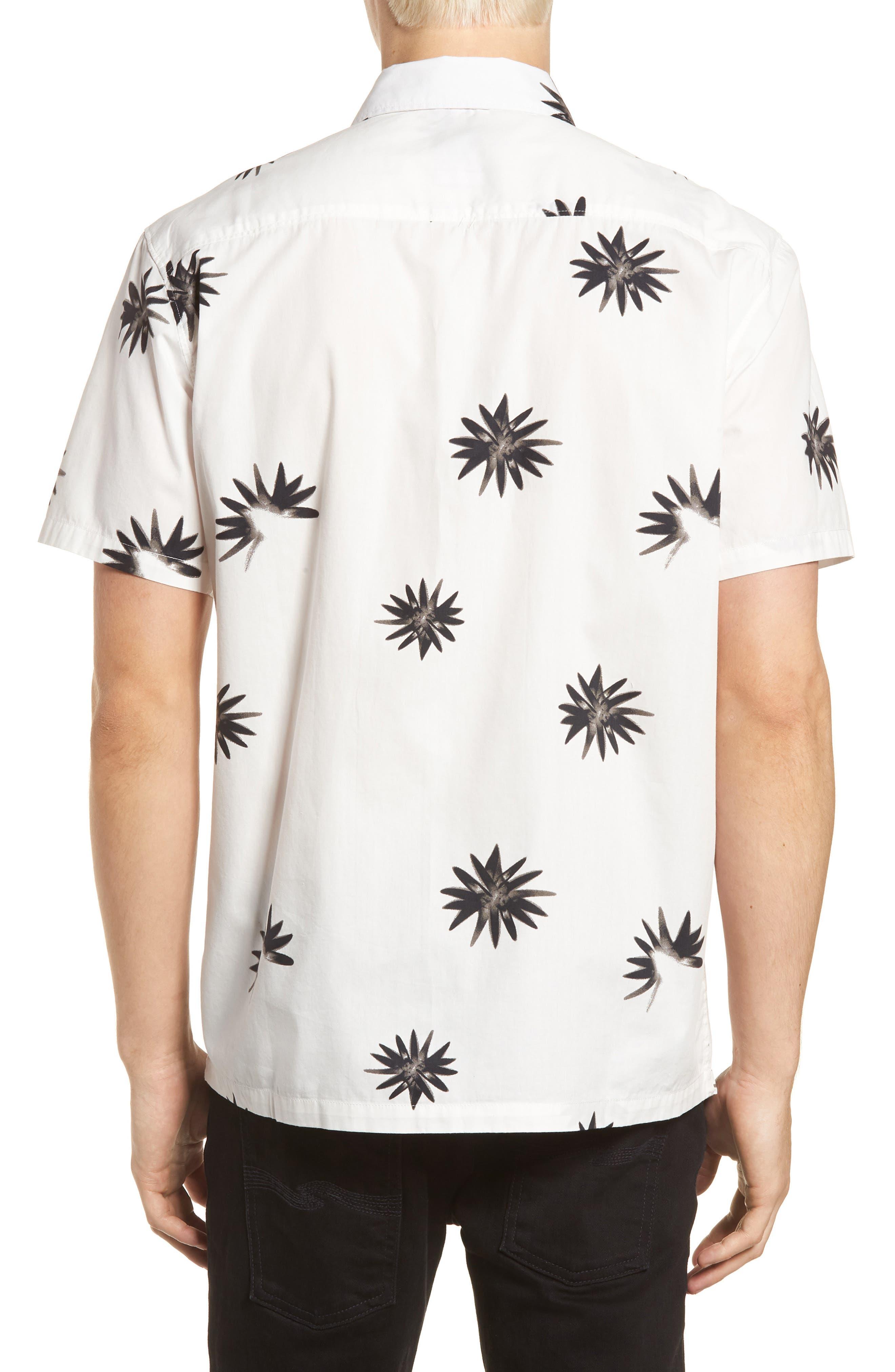 Villa Floral Woven Shirt,                             Alternate thumbnail 2, color,                             WHITE