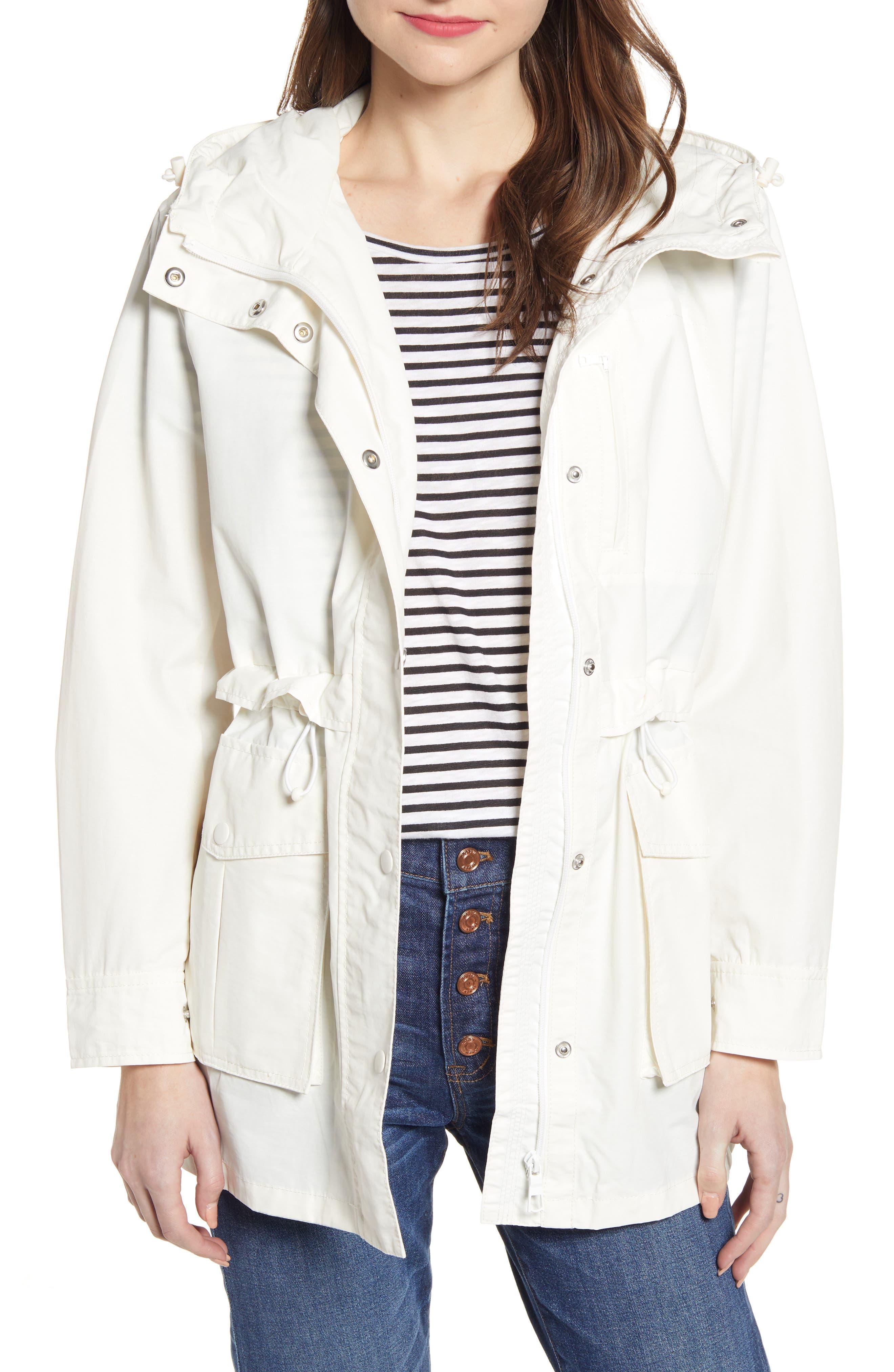 J.CREW Perfect Raincoat, Main, color, IVORY