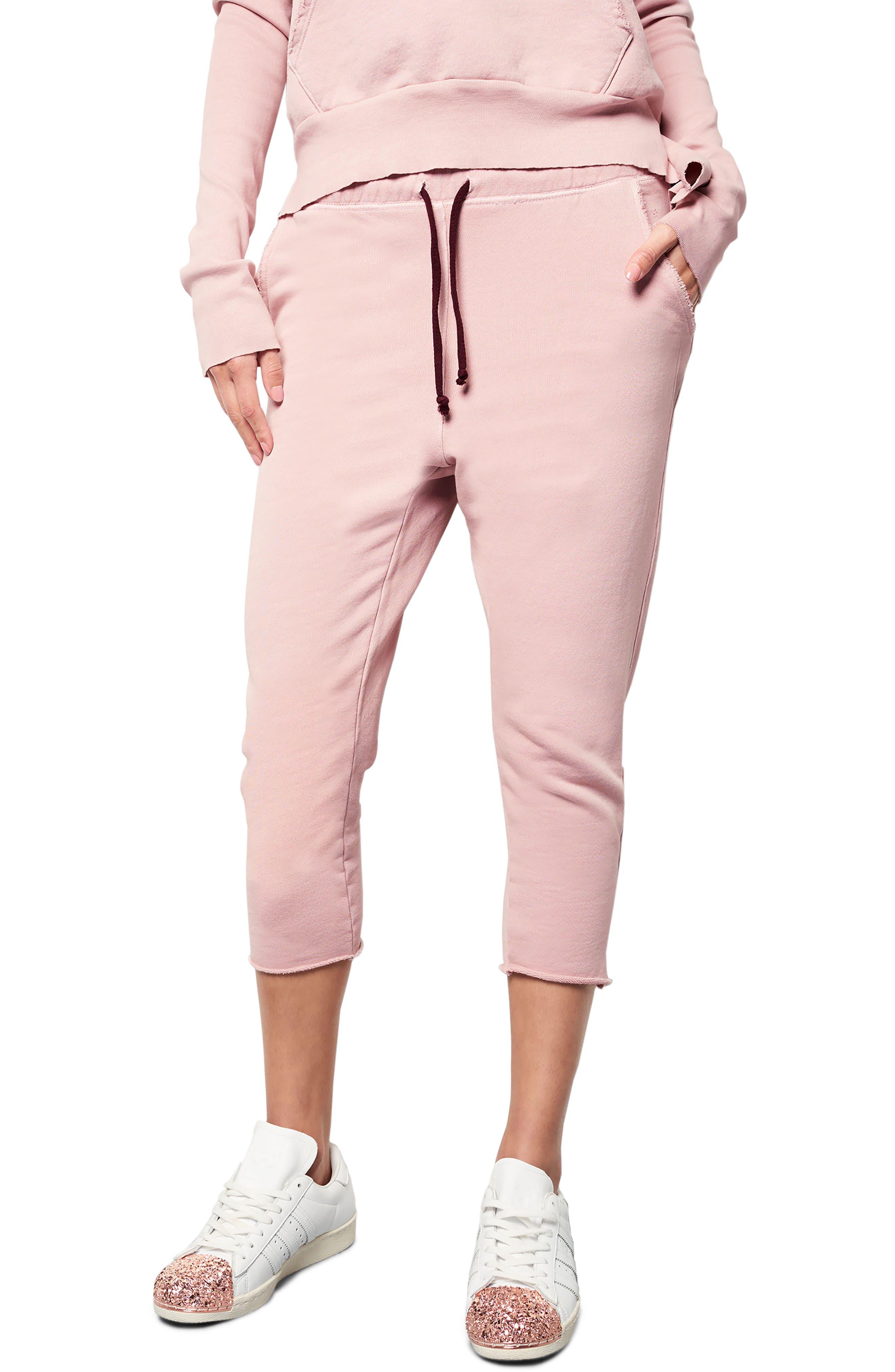 Raw Hem Crop Sweatpants,                             Main thumbnail 1, color,                             670