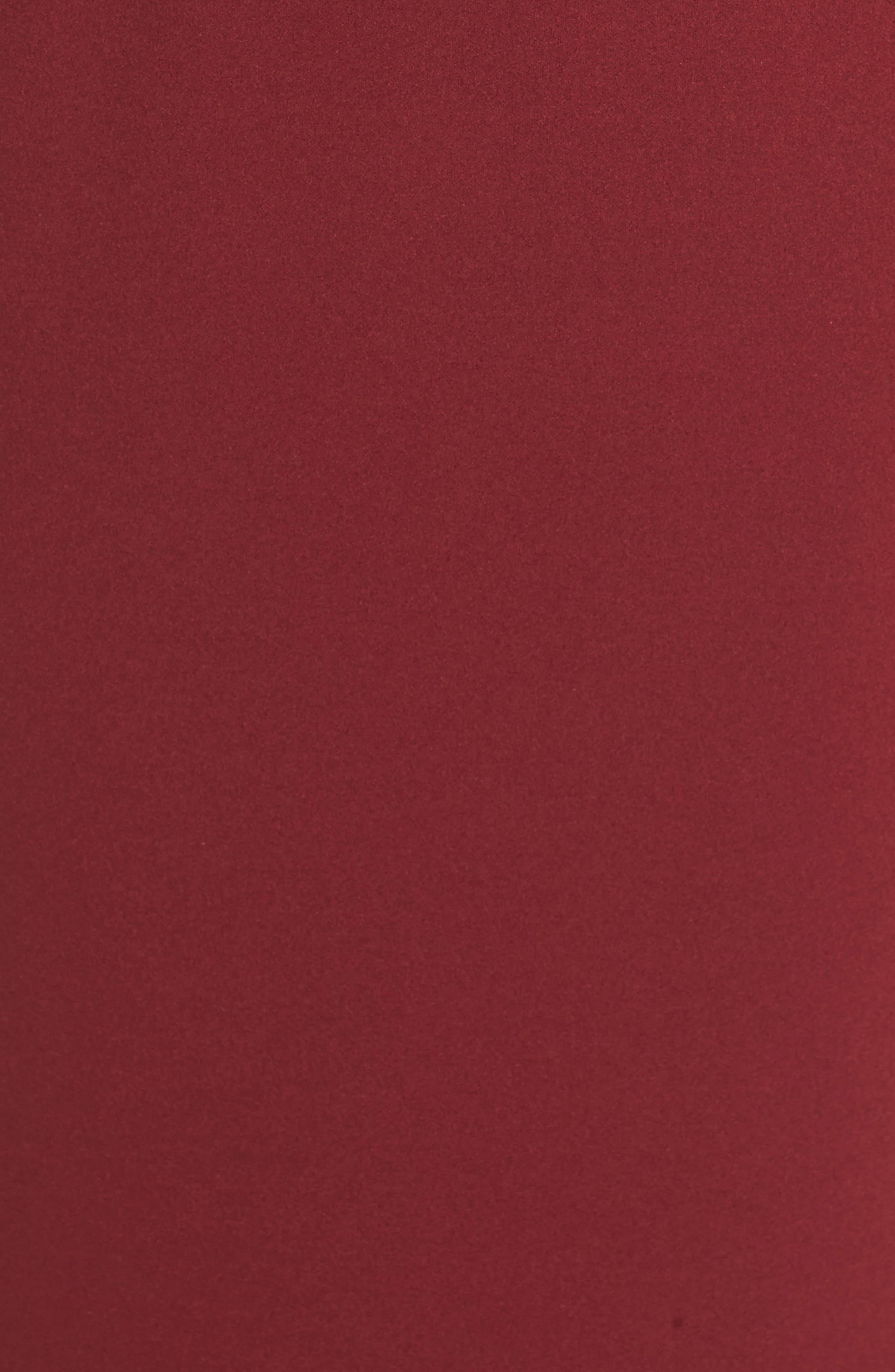 Vionnet Drape Back Crepe Gown,                             Alternate thumbnail 6, color,                             BORDEAUX