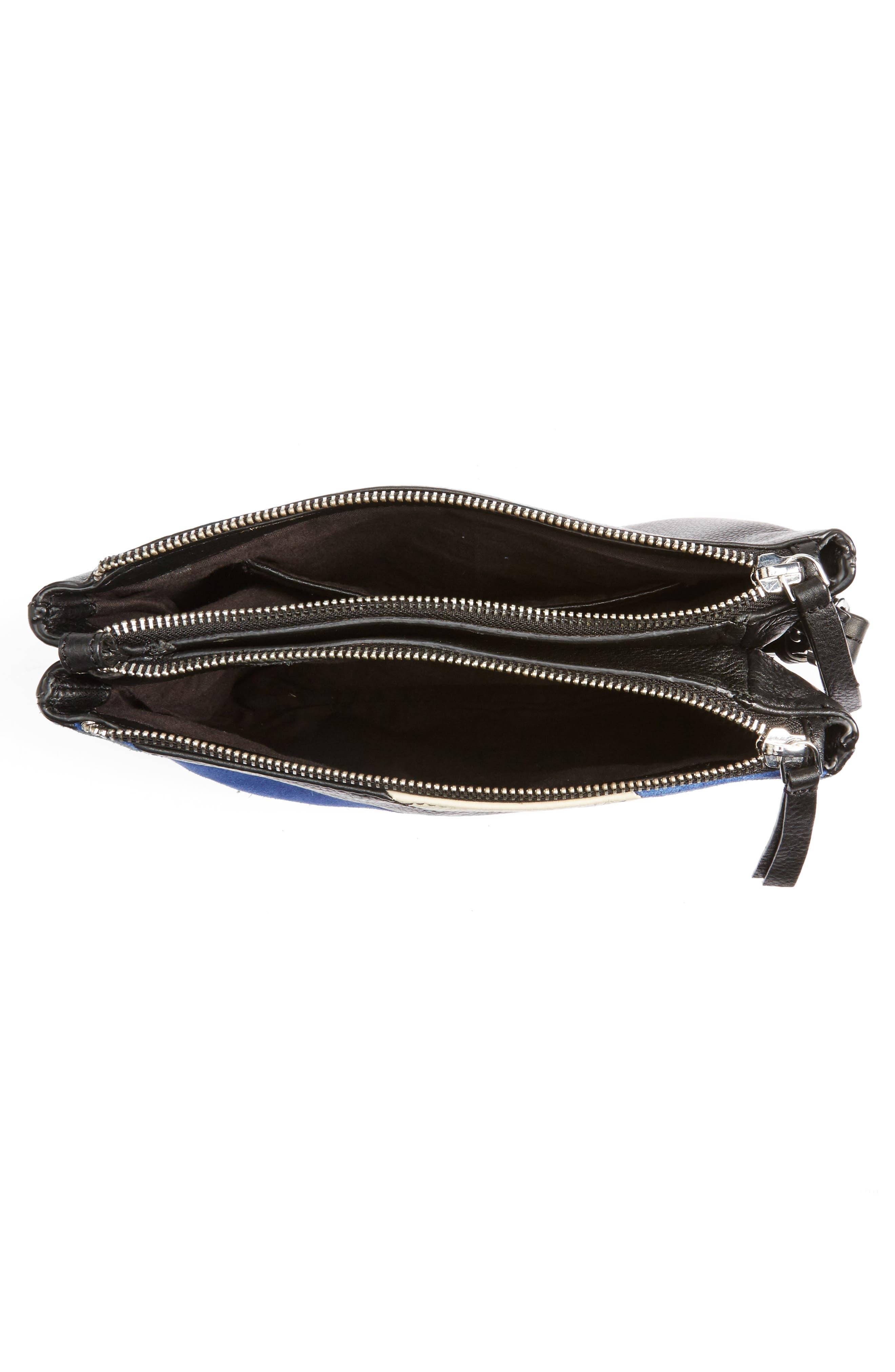 Premium Leather Bridget Crossbody Bag,                             Alternate thumbnail 4, color,                             001
