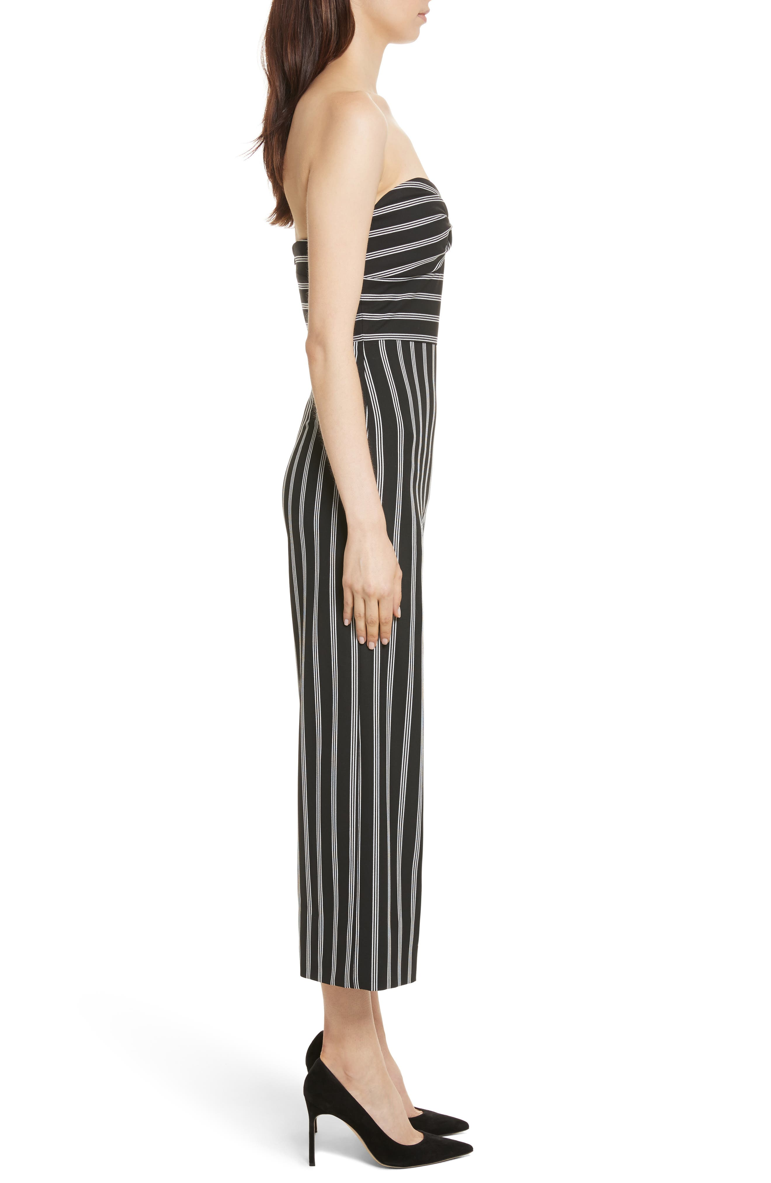 Cypress Stripe Strapless Jumpsuit,                             Alternate thumbnail 3, color,                             007