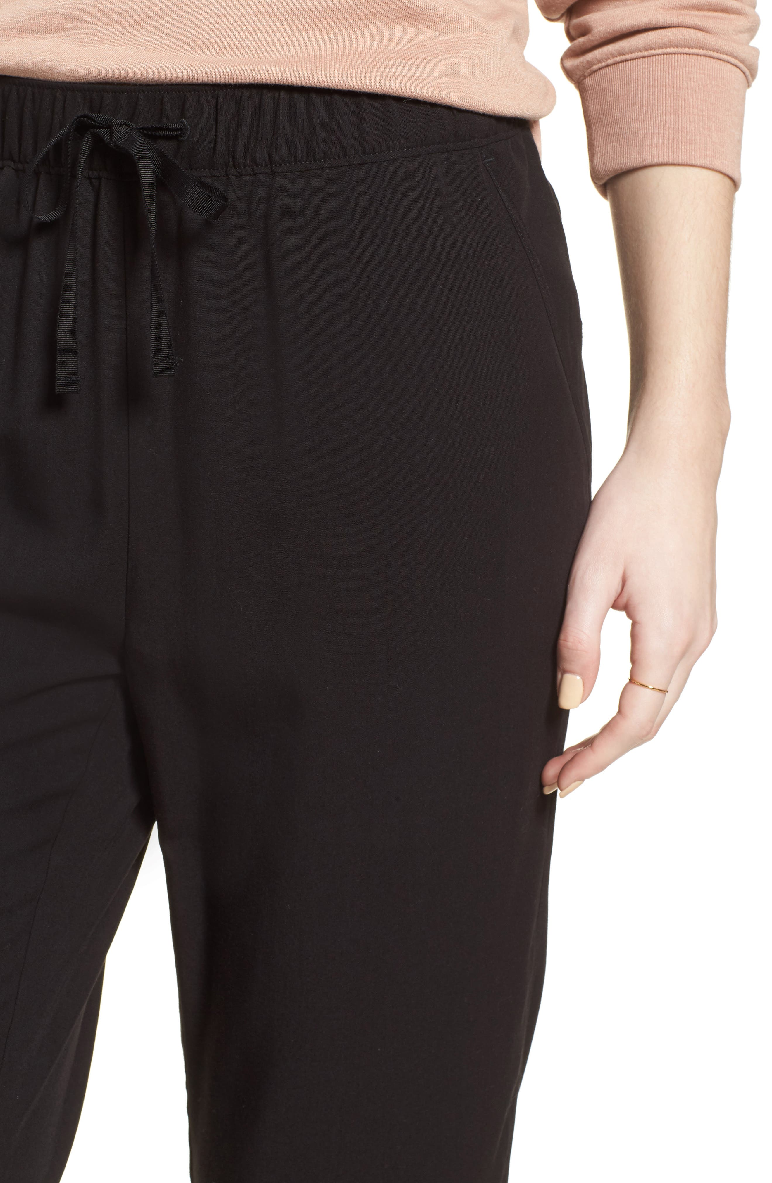 MADEWELL,                             Drawstring Track Trousers,                             Alternate thumbnail 4, color,                             001