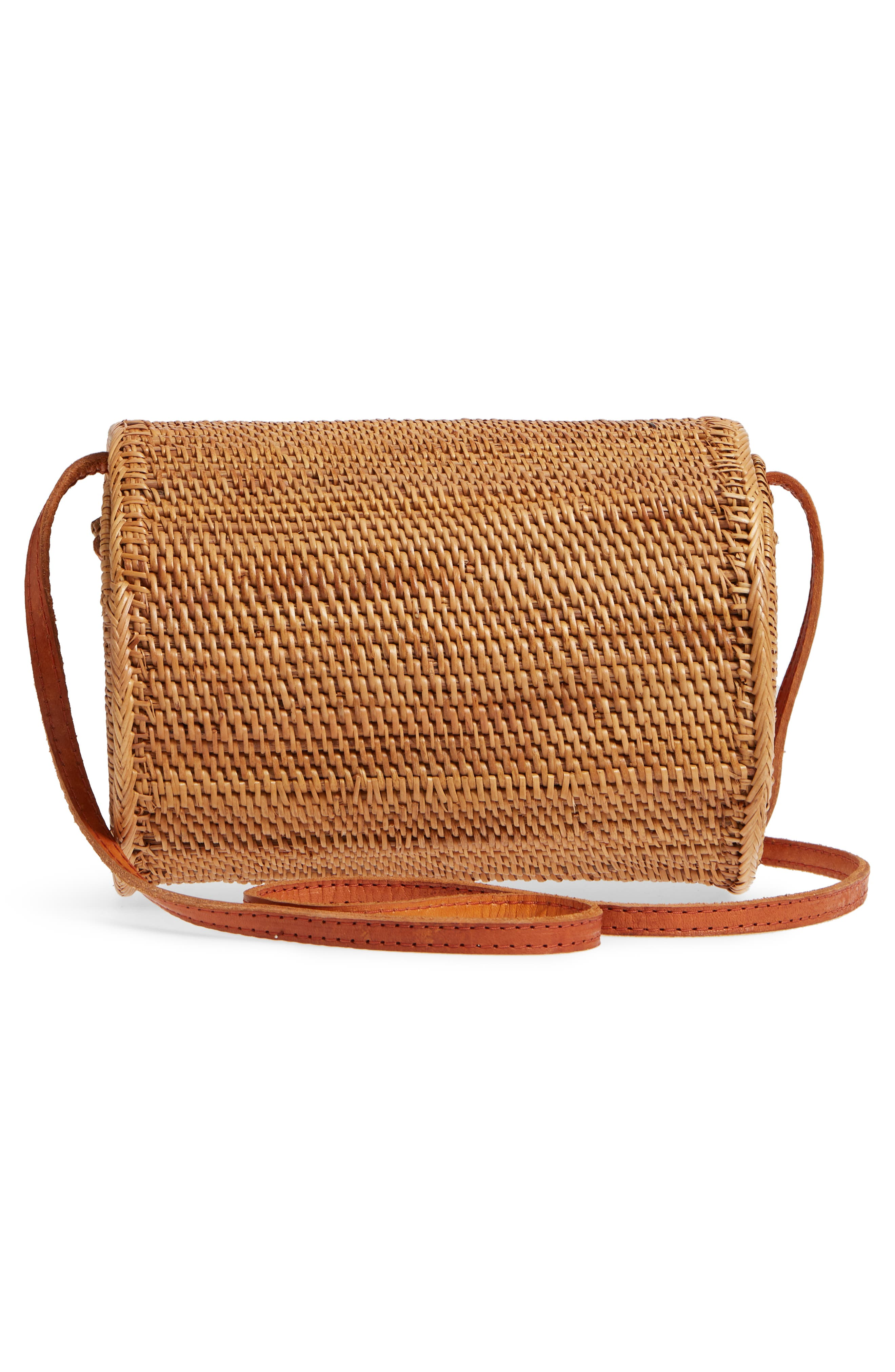 Cylinder Woven Crossbody Bag,                             Alternate thumbnail 3, color,                             230