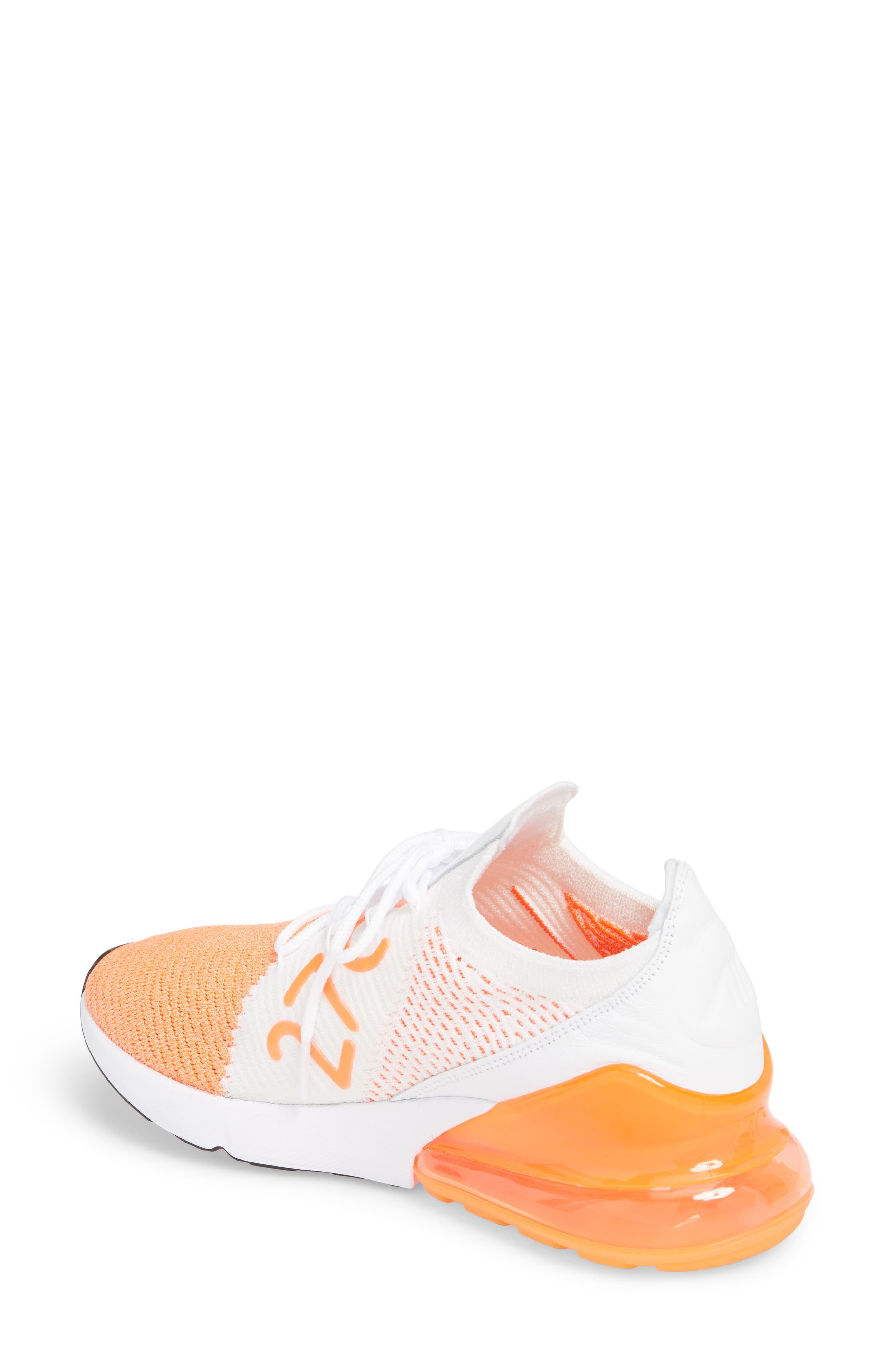 Air Max 270 Flyknit Sneaker,                             Alternate thumbnail 15, color,