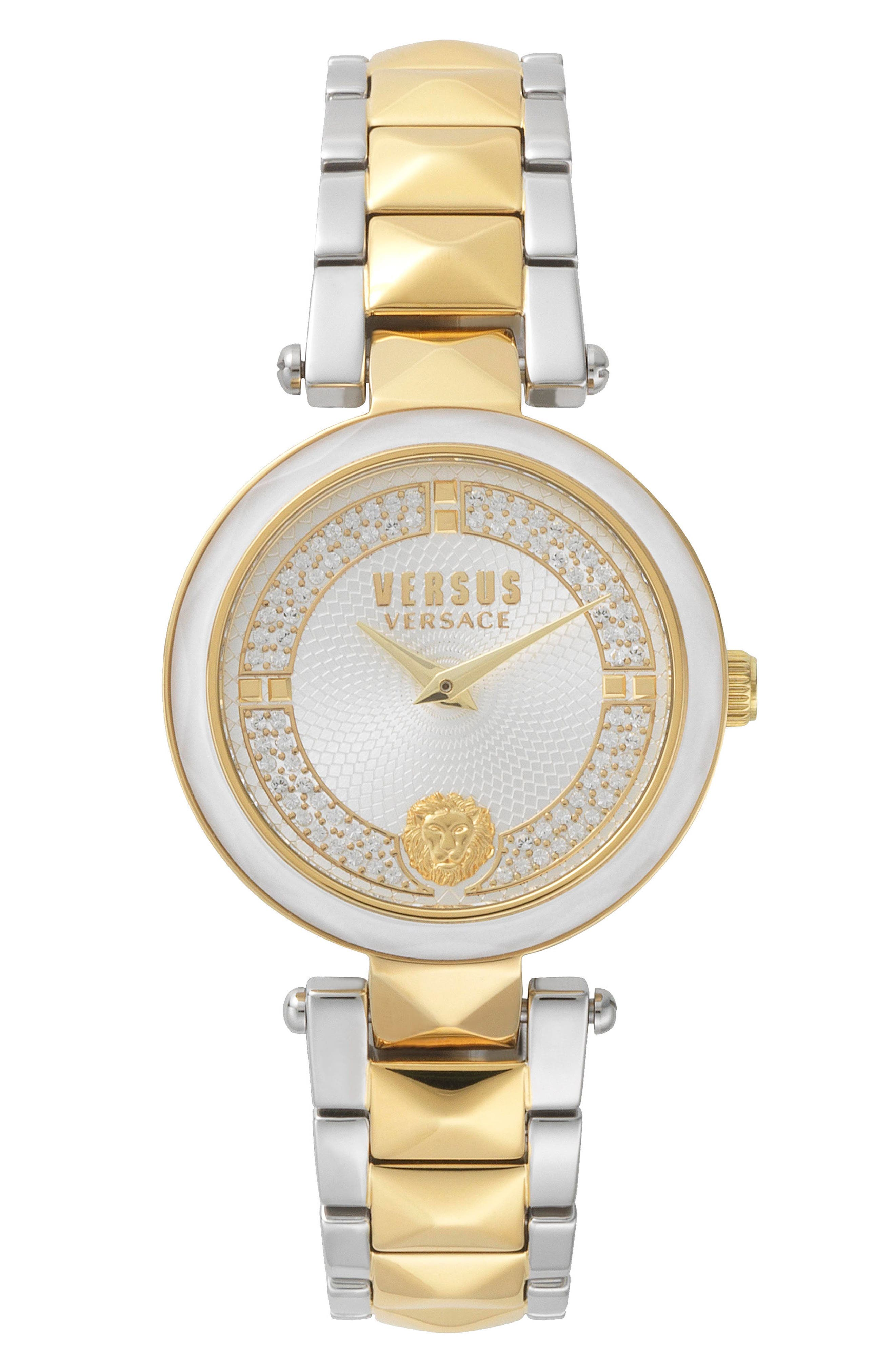 VERSUS by Versace Covent Garden Crystal Accent Bracelet Watch, 36mm,                         Main,                         color, 710
