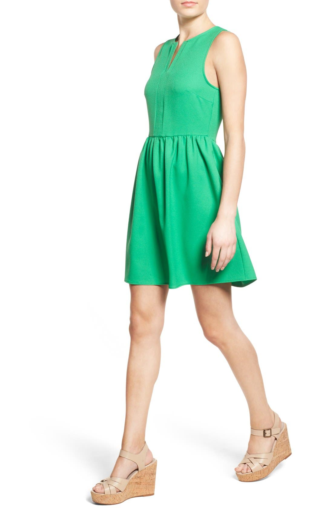 'Rowan' V-Neck Skater Dress,                             Alternate thumbnail 42, color,