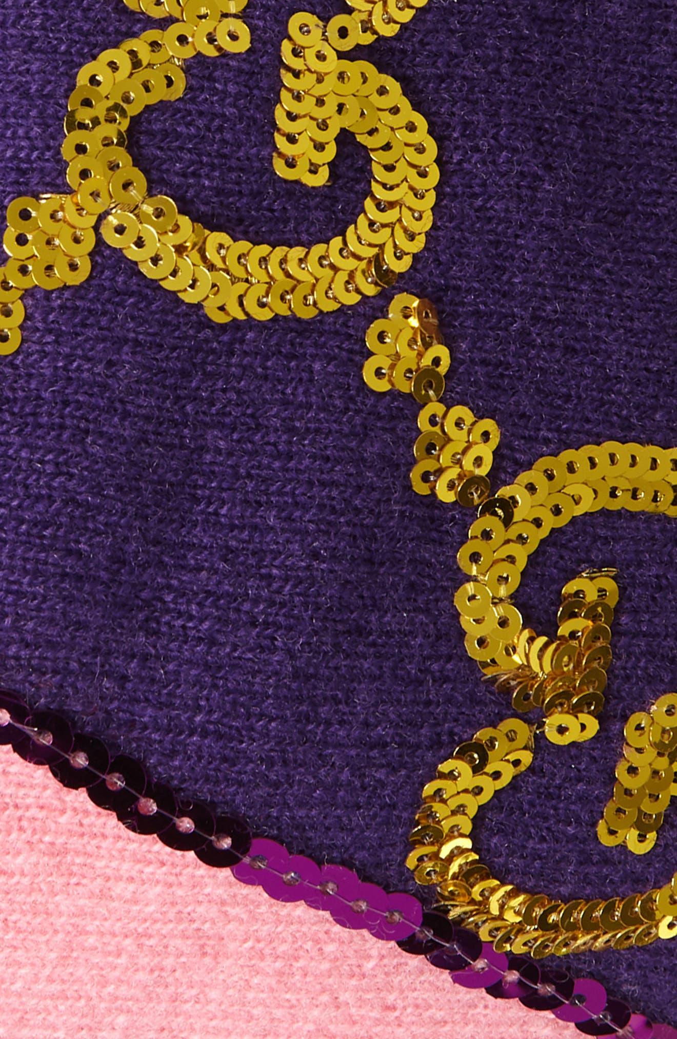 GG Sequin Headband,                             Alternate thumbnail 3, color,                             PARMA VIOLET/ PINK