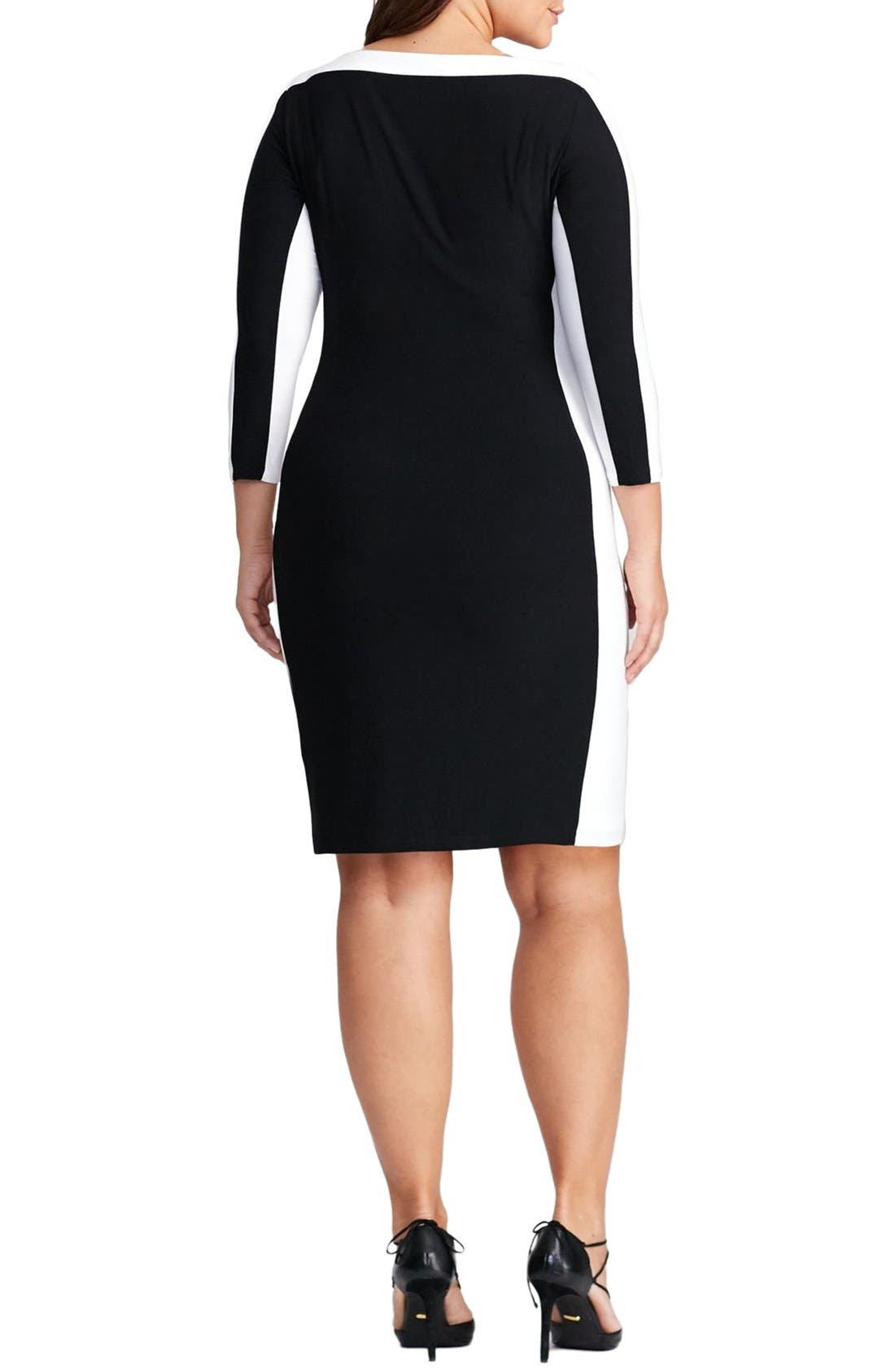 Jersey Sheath Dress,                             Alternate thumbnail 2, color,                             001