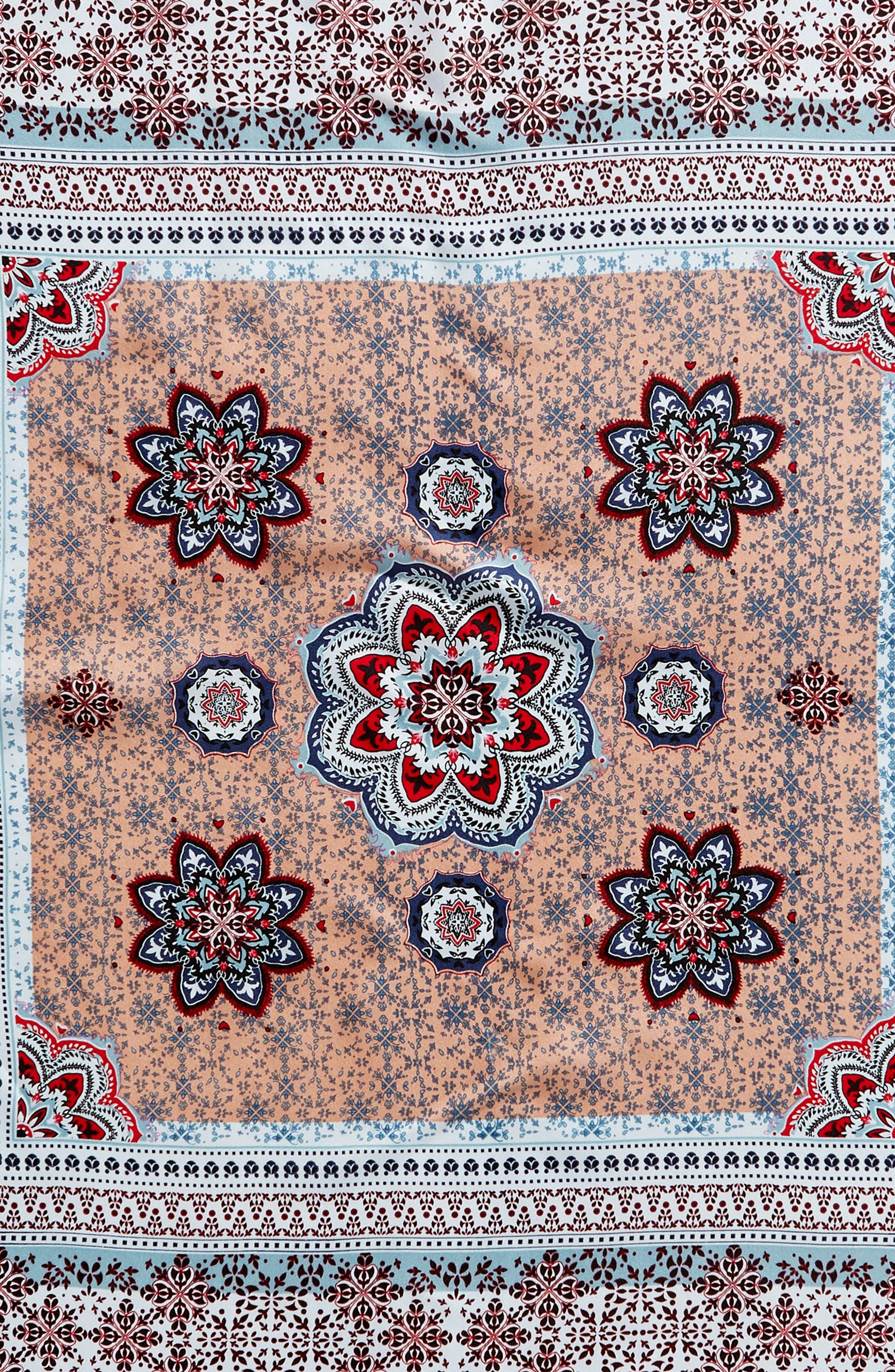 Medallion Print Silk Bandana,                             Alternate thumbnail 4, color,                             400