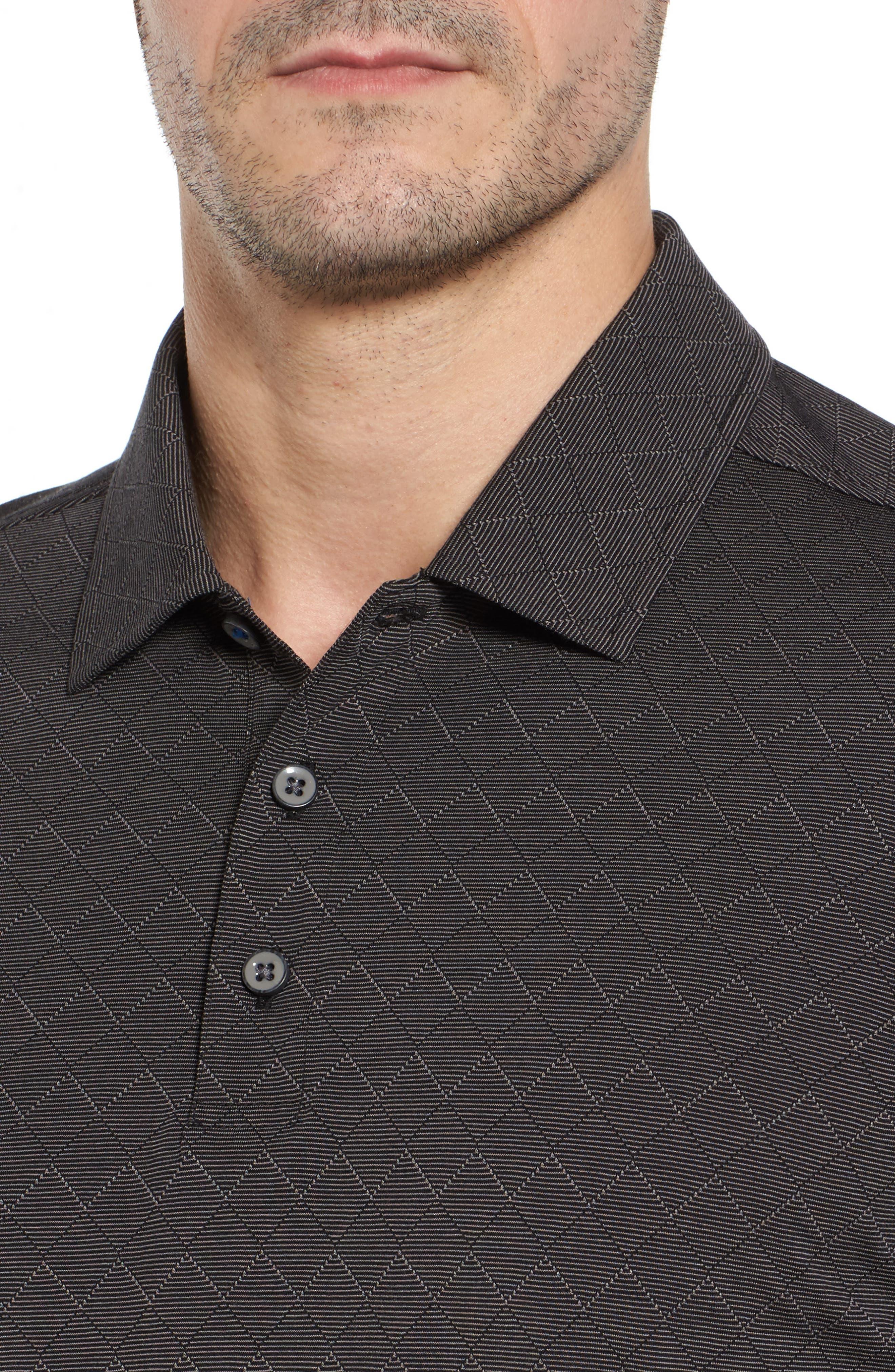 Diamond Drift Spectator Polo Shirt,                             Alternate thumbnail 4, color,                             001