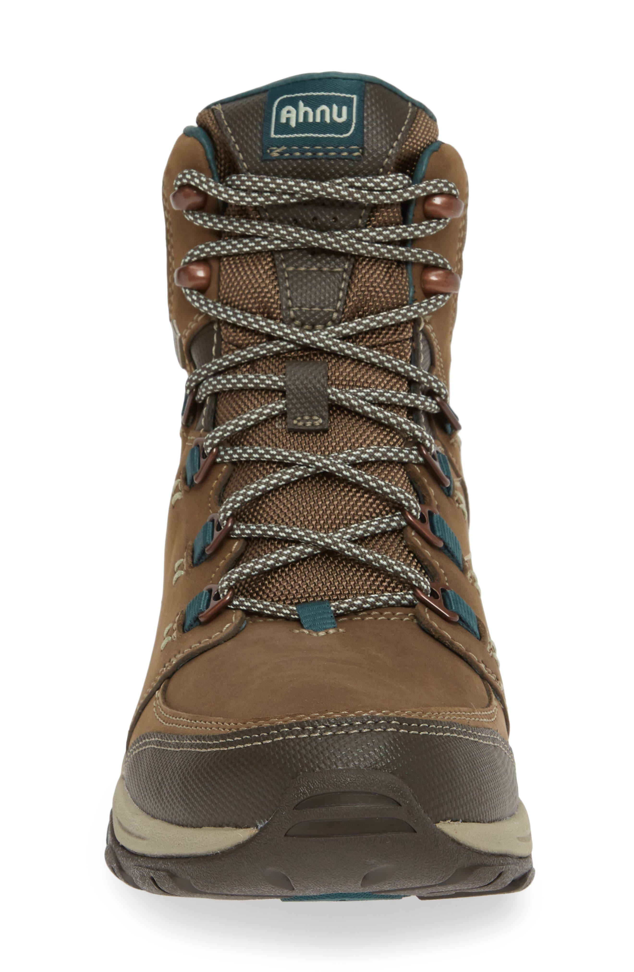 Ahnu by Teva Montara III Waterproof Hiking Boot,                             Alternate thumbnail 4, color,                             CHOCOLATE CHIP NUBUCK LEATHER