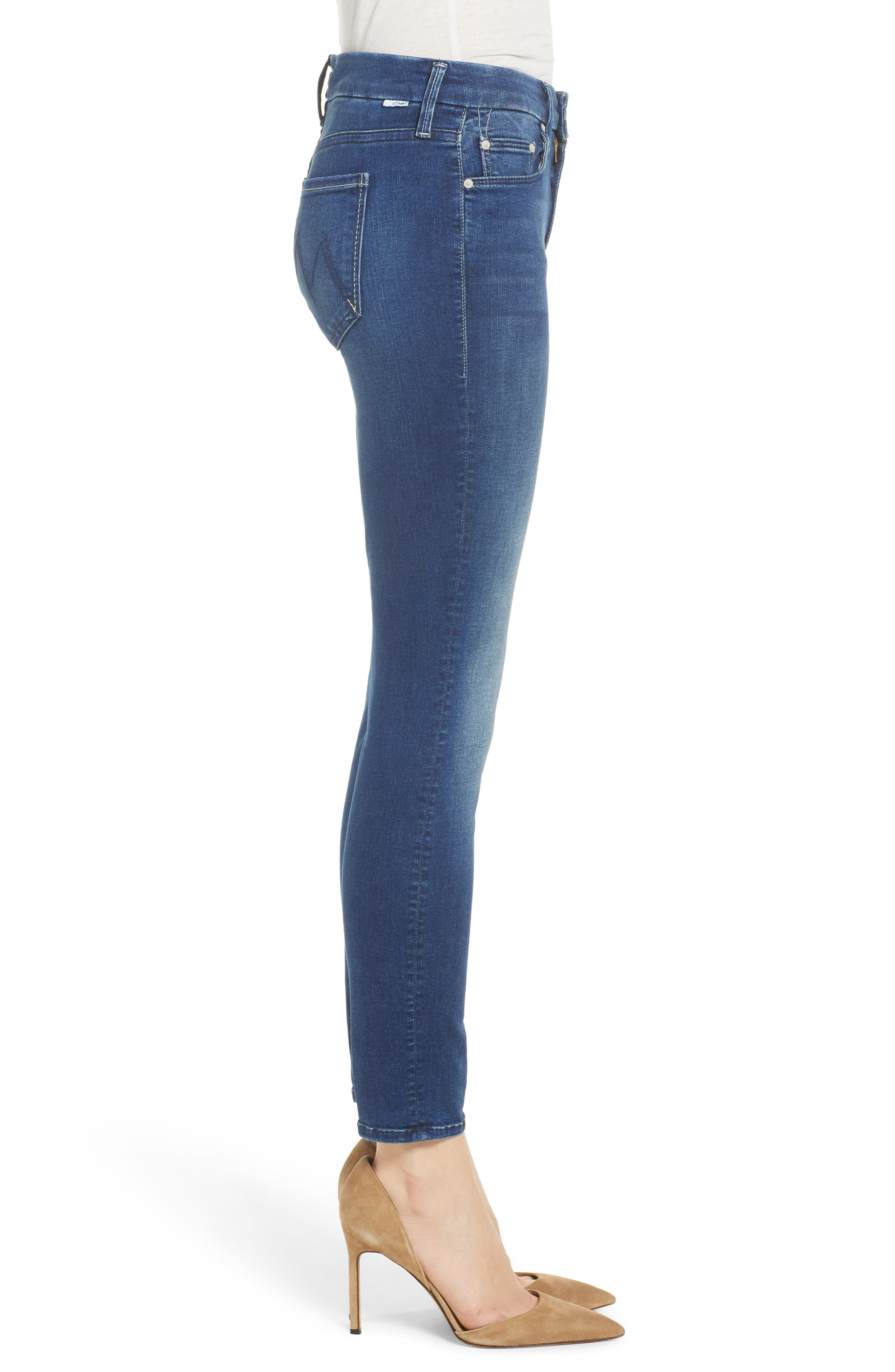 The Looker Crop Skinny Jeans,                             Alternate thumbnail 3, color,                             407