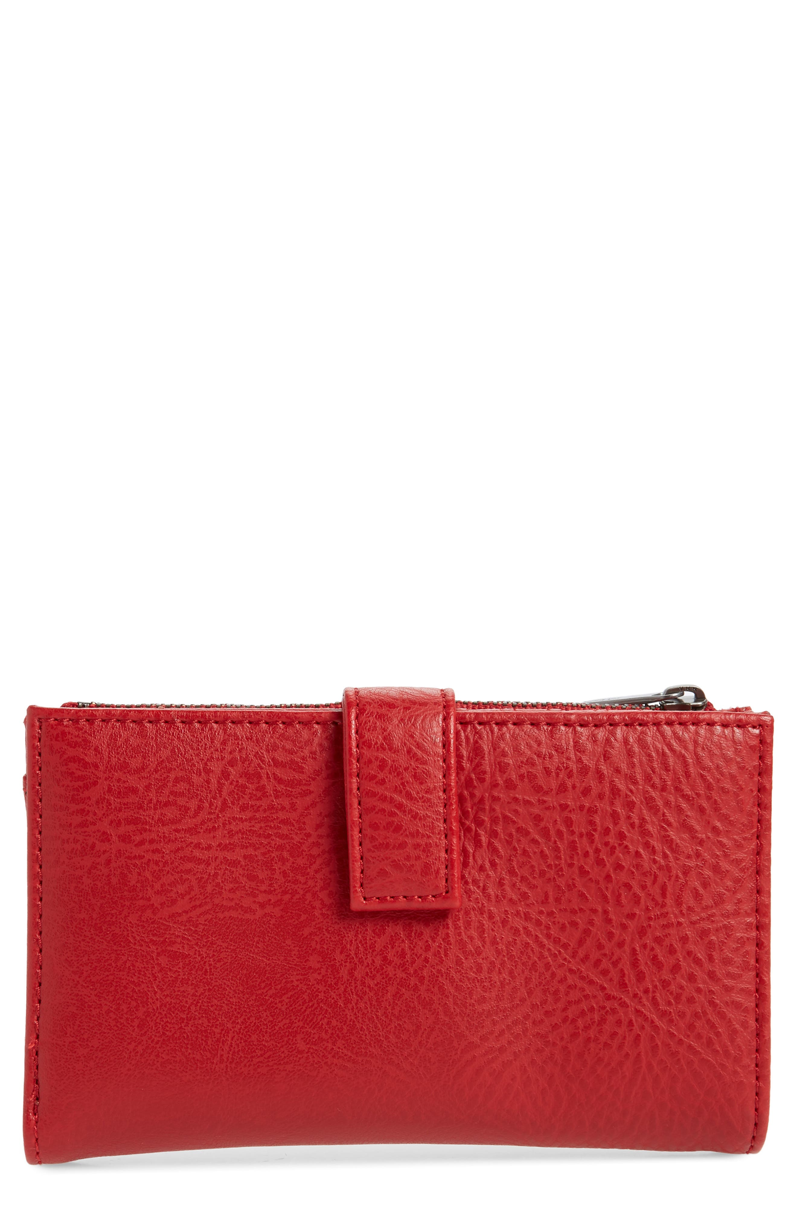 Matt & Nat Small Motiv Faux Leather Wallet - Red