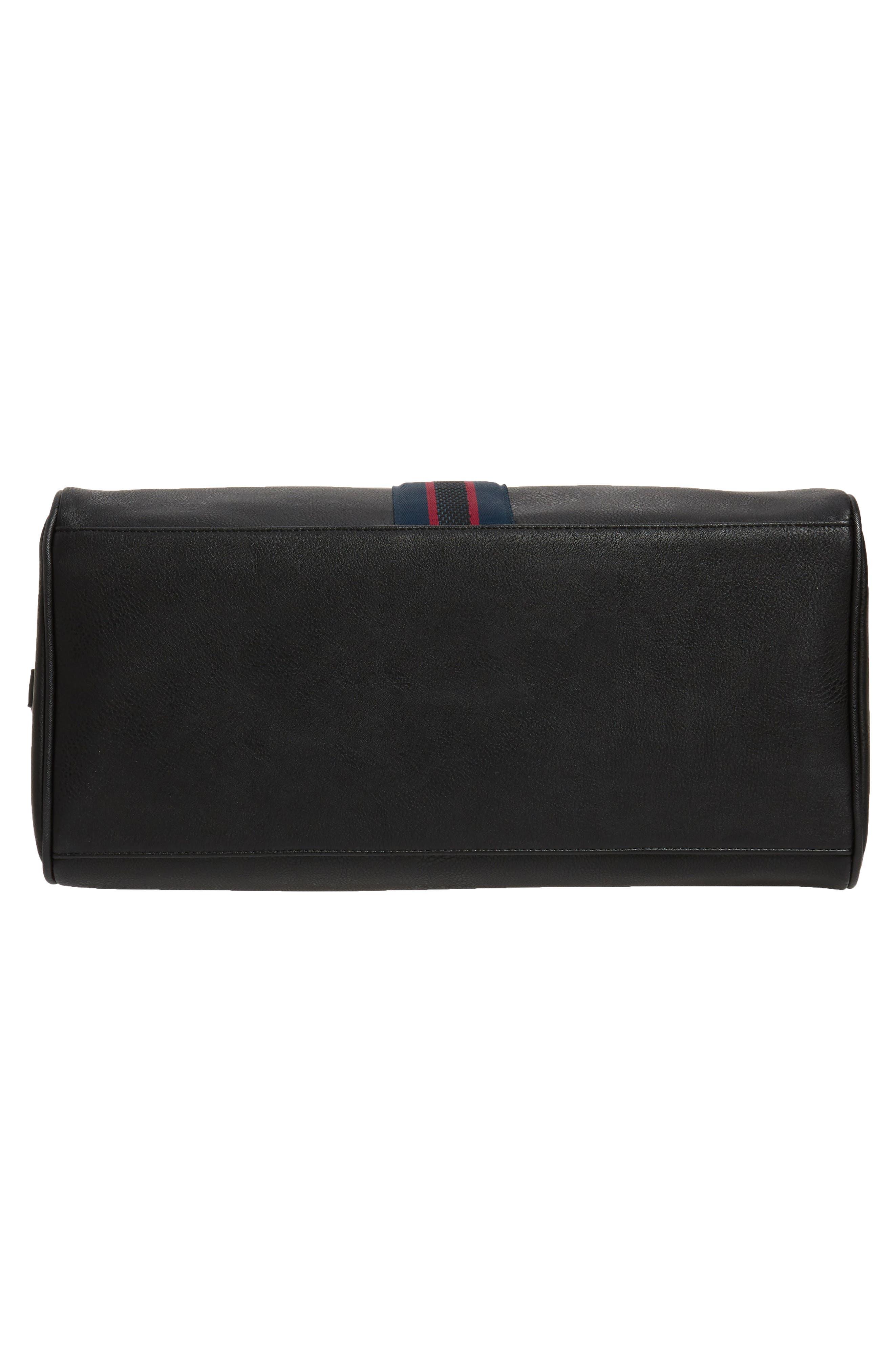 Webbing Duffel Bag,                             Alternate thumbnail 5, color,                             BLACK