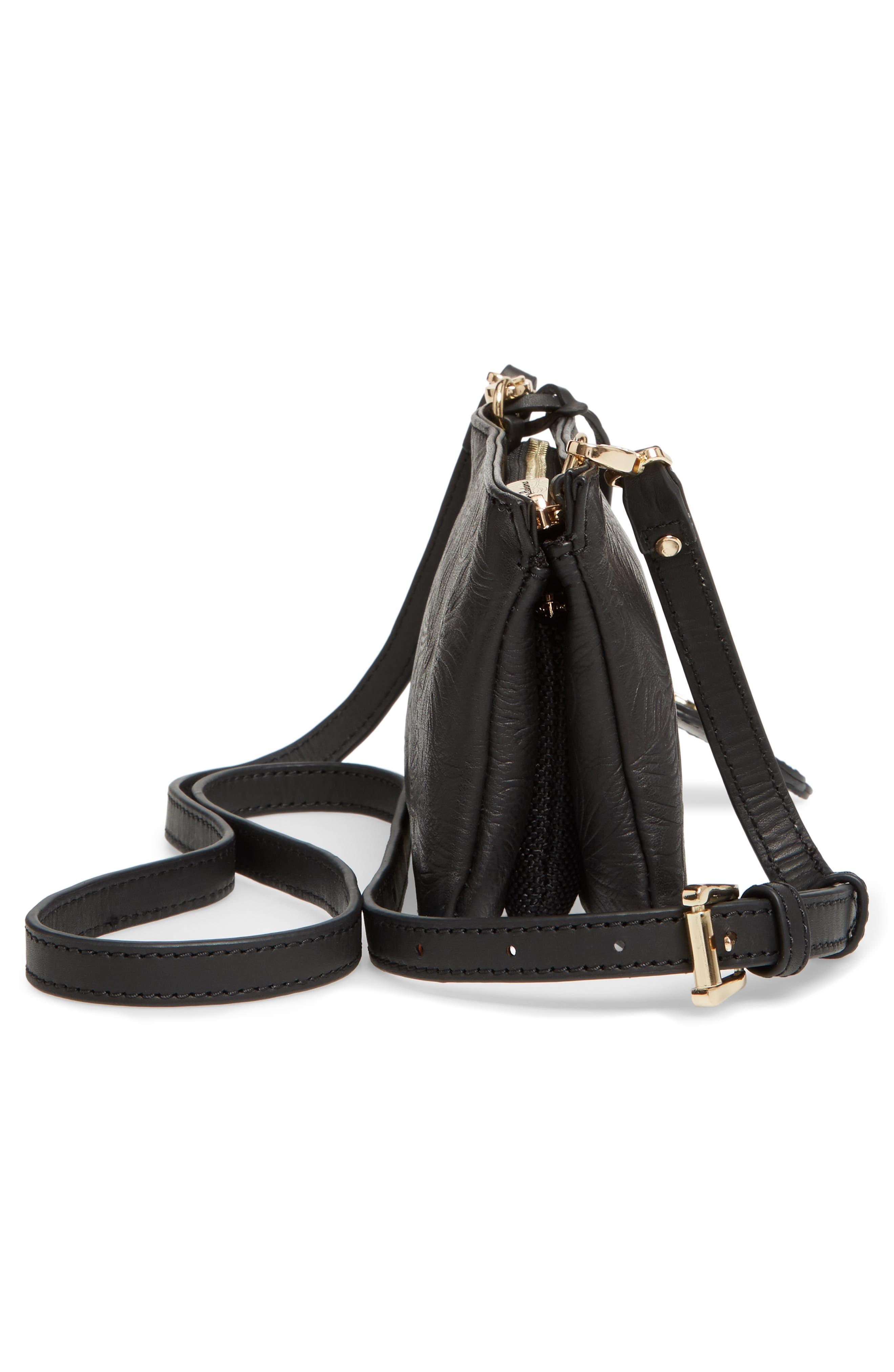 Marrakech Leather Crossbody Wallet,                             Alternate thumbnail 5, color,                             001