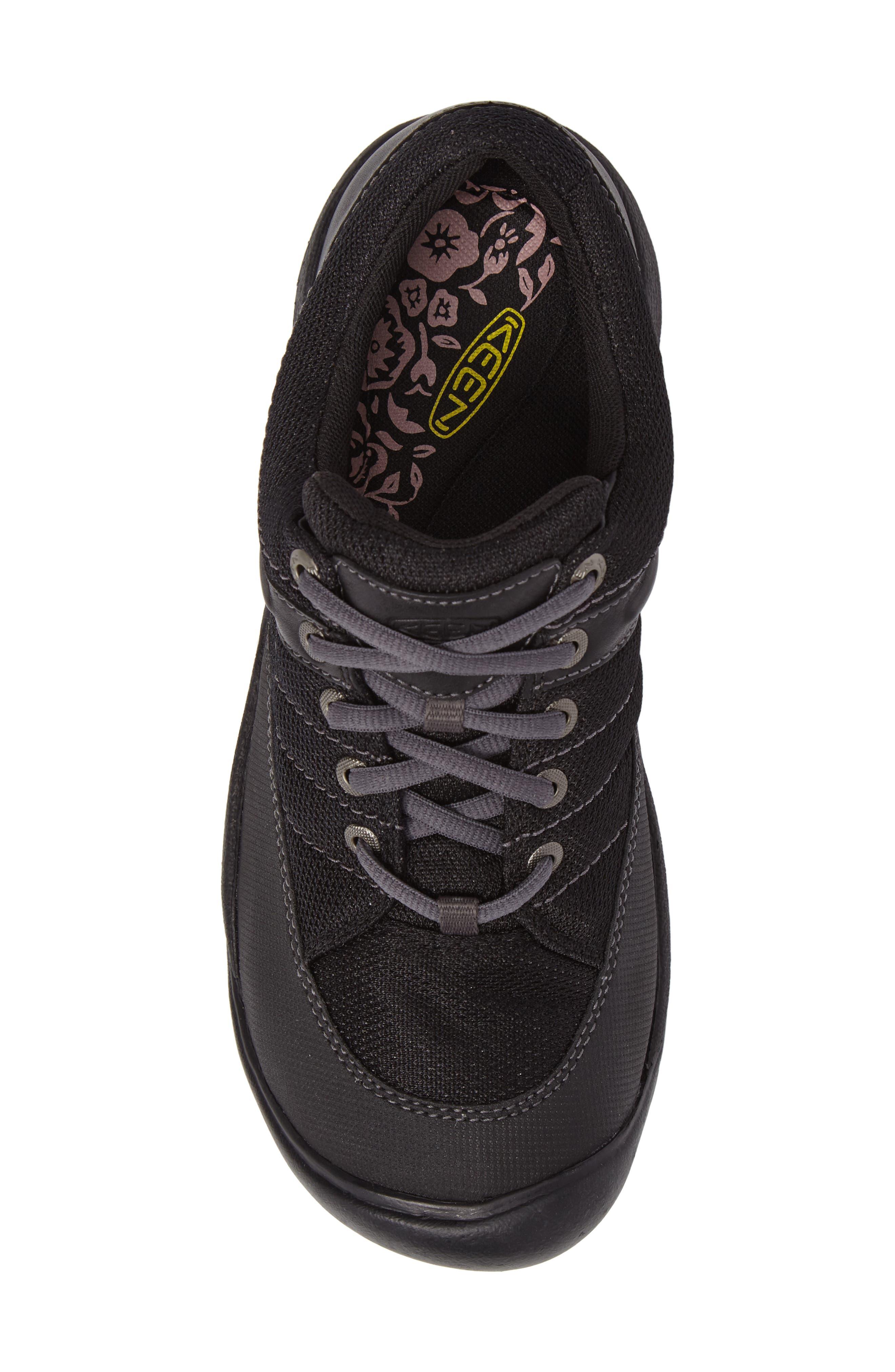Presidio Waterproof Sport Sneaker,                             Alternate thumbnail 5, color,                             BLACK LEATHER