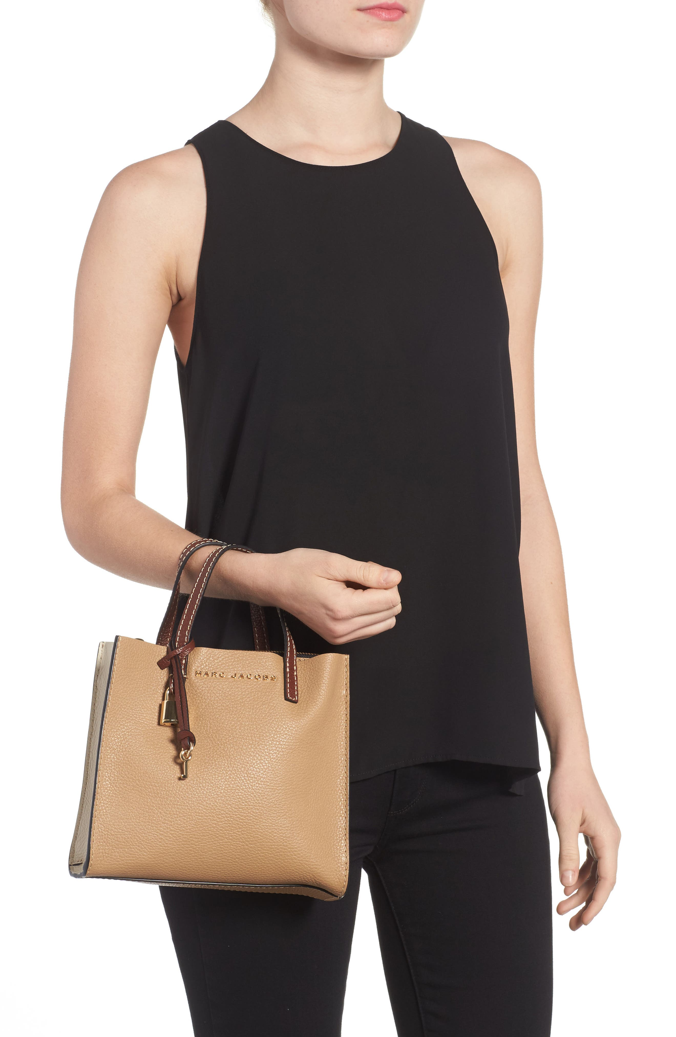 The Grind Mini Colorblock Leather Tote,                             Alternate thumbnail 2, color,