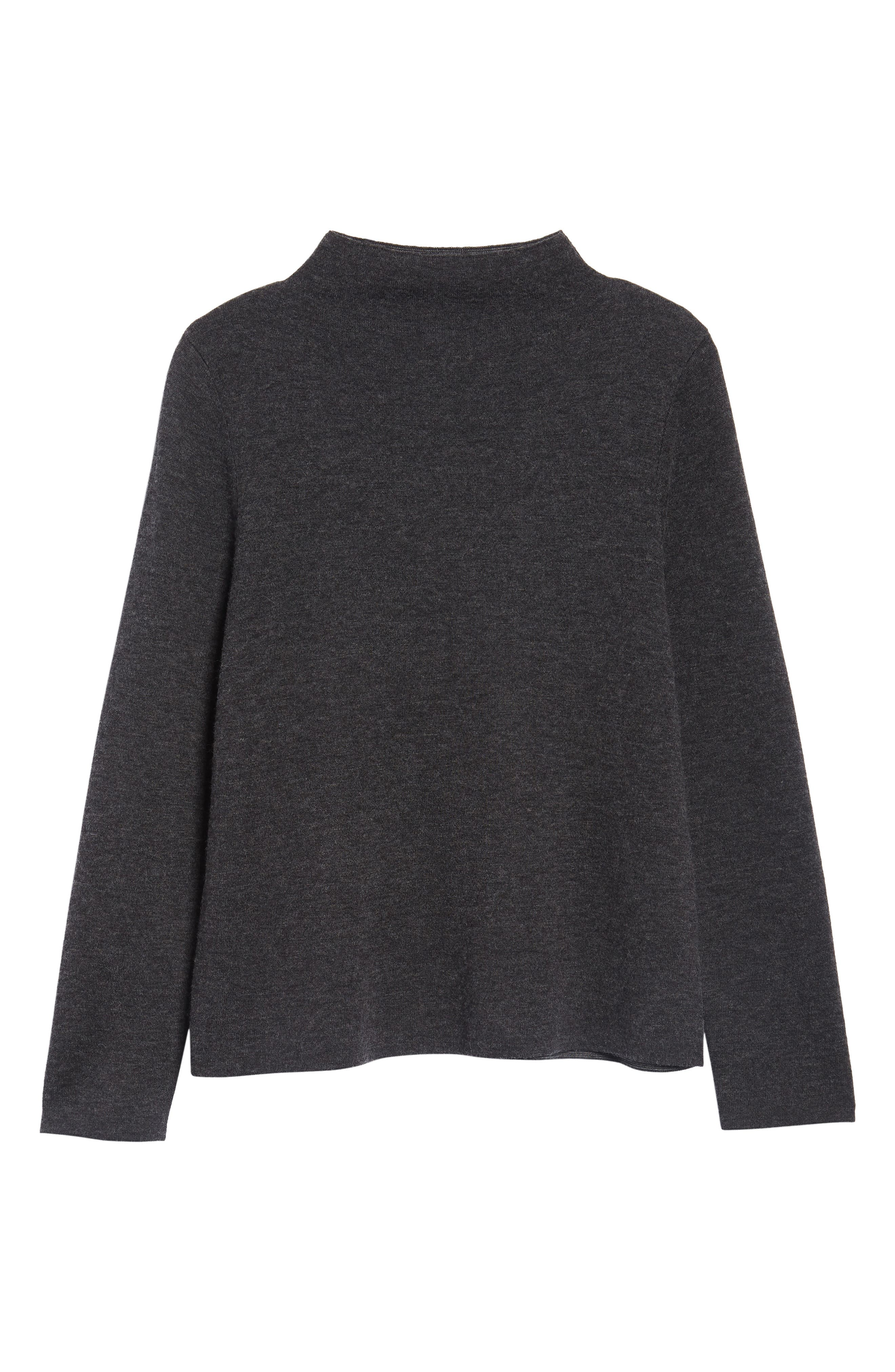 Funnel Neck Sweater,                             Alternate thumbnail 6, color,                             021