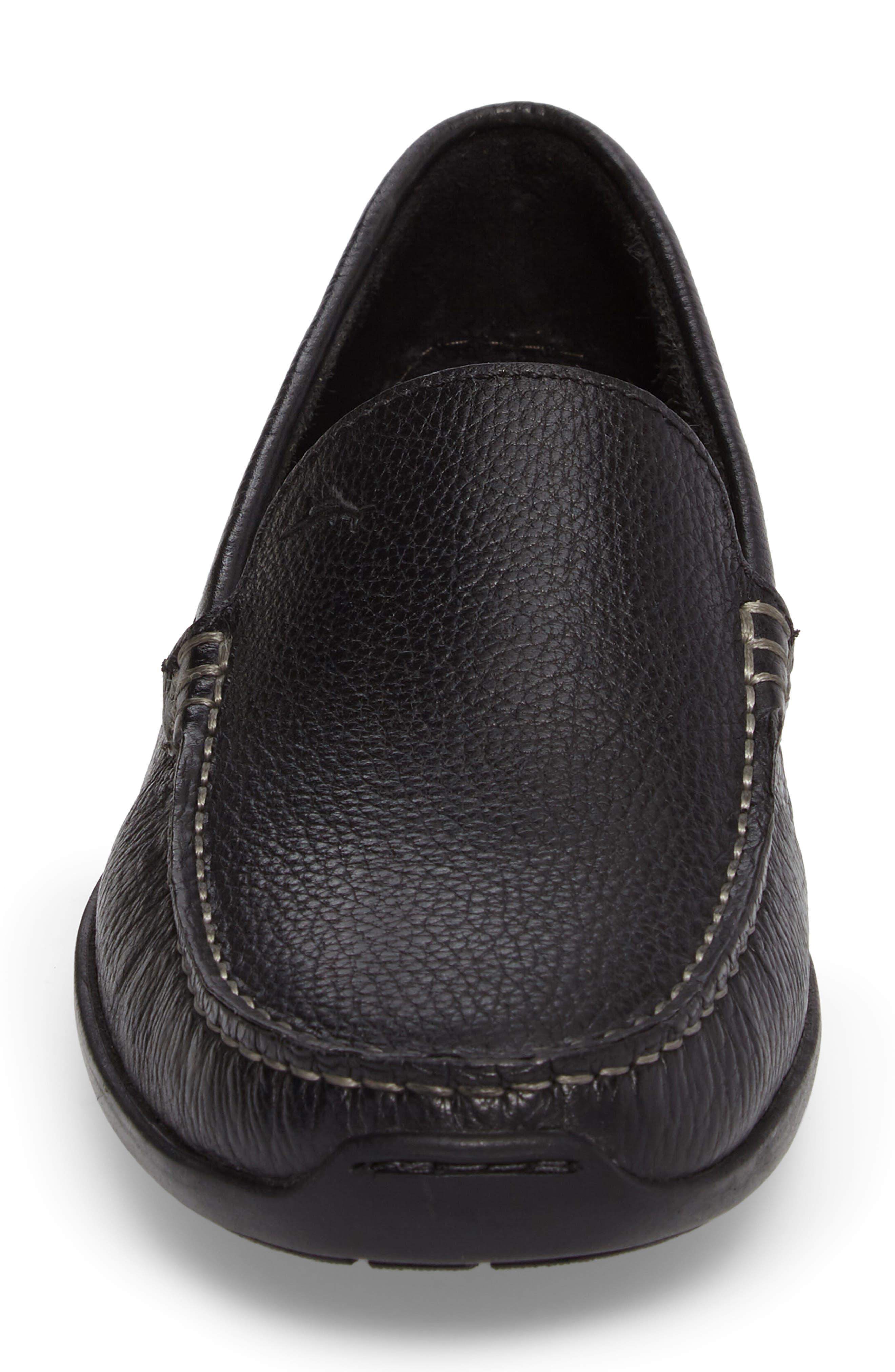 Orion Venetian Loafer,                             Alternate thumbnail 4, color,                             BLACK LEATHER