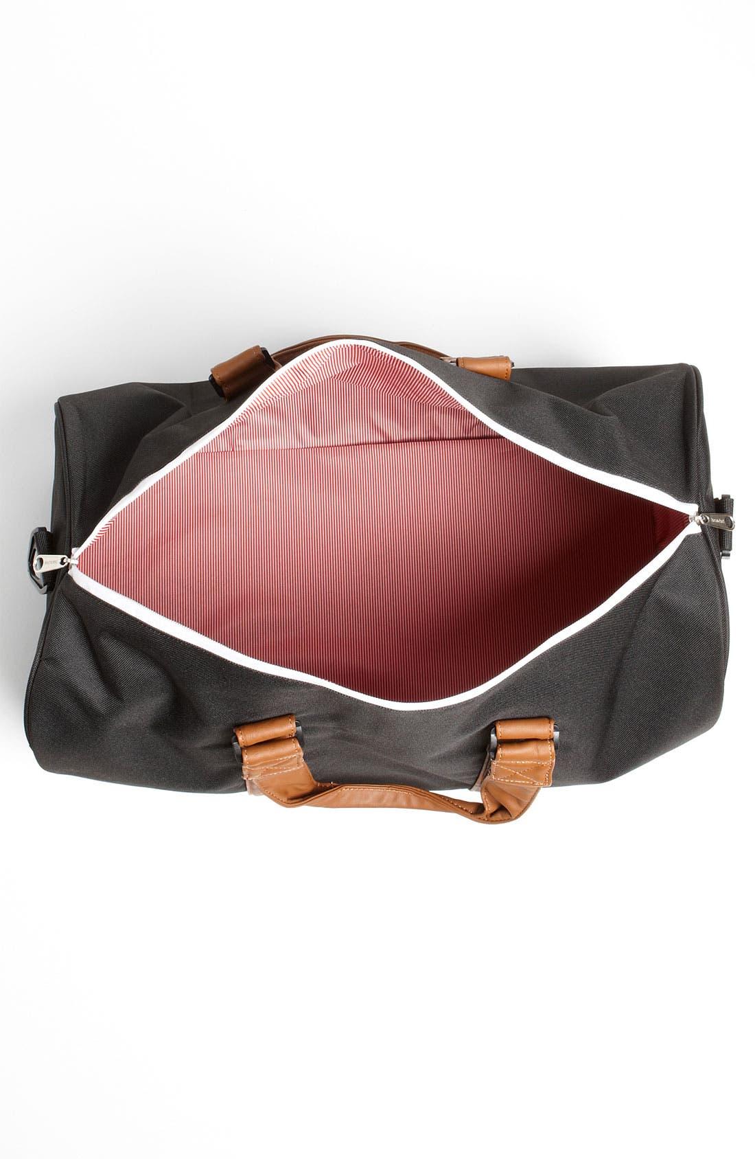 'Novel' Duffel Bag,                             Alternate thumbnail 9, color,                             BLACK/ TAN