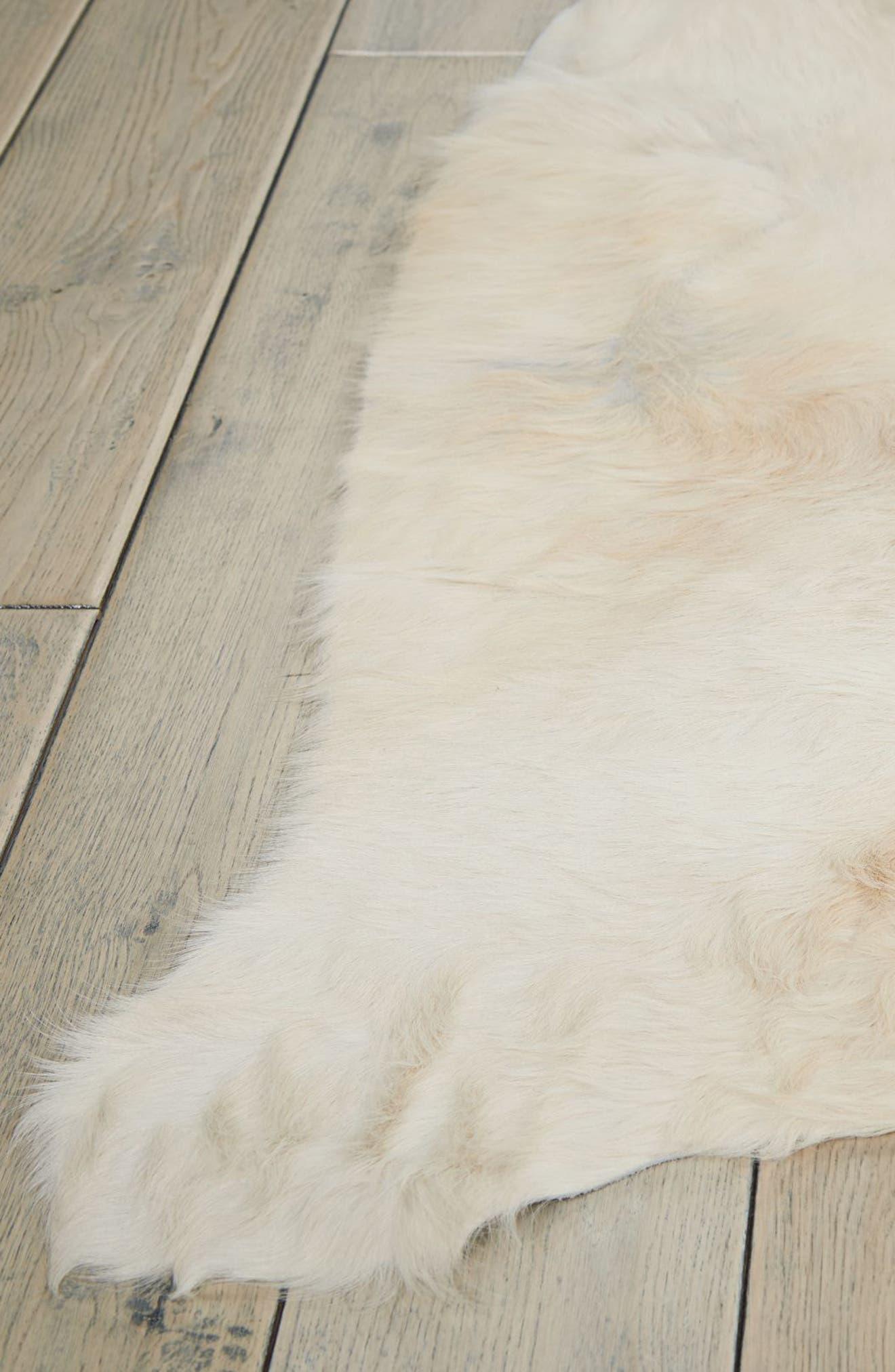 Cori Genuine Calf Hair Rug,                             Alternate thumbnail 3, color,                             100