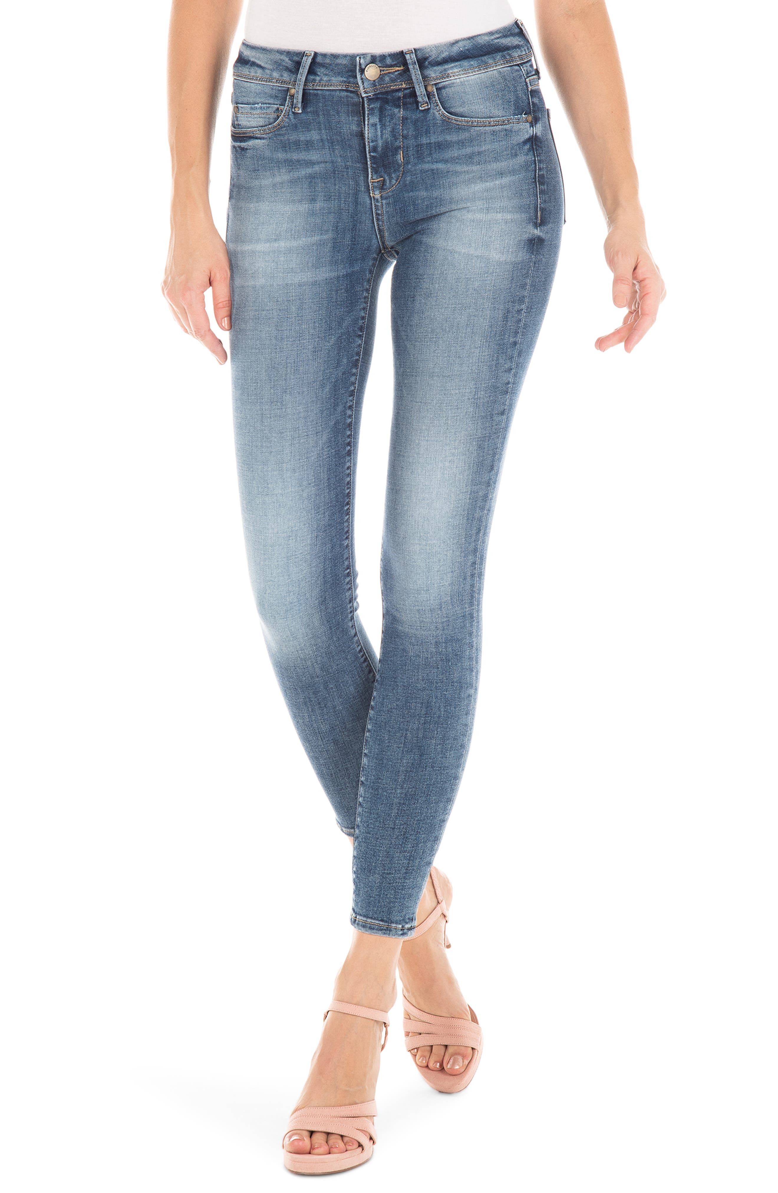 FIDELITY DENIM,                             Mila Stretch Ankle Skinny Jeans,                             Main thumbnail 1, color,                             RIVERSIDE BLUE