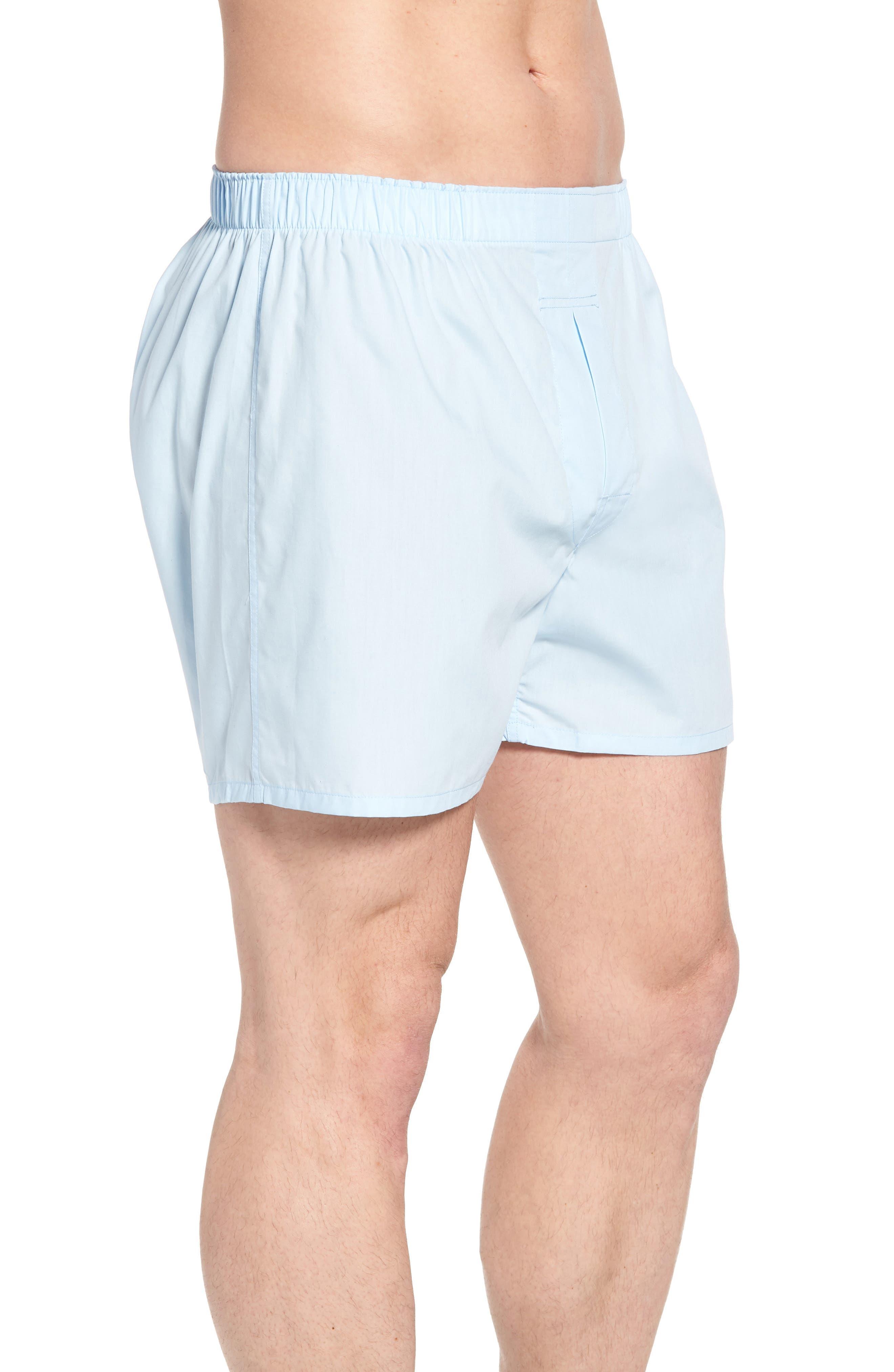 3-Pack Cotton Boxers,                             Alternate thumbnail 4, color,                             WHITE/ LIGHT BLUE/ CRUISE NAVY