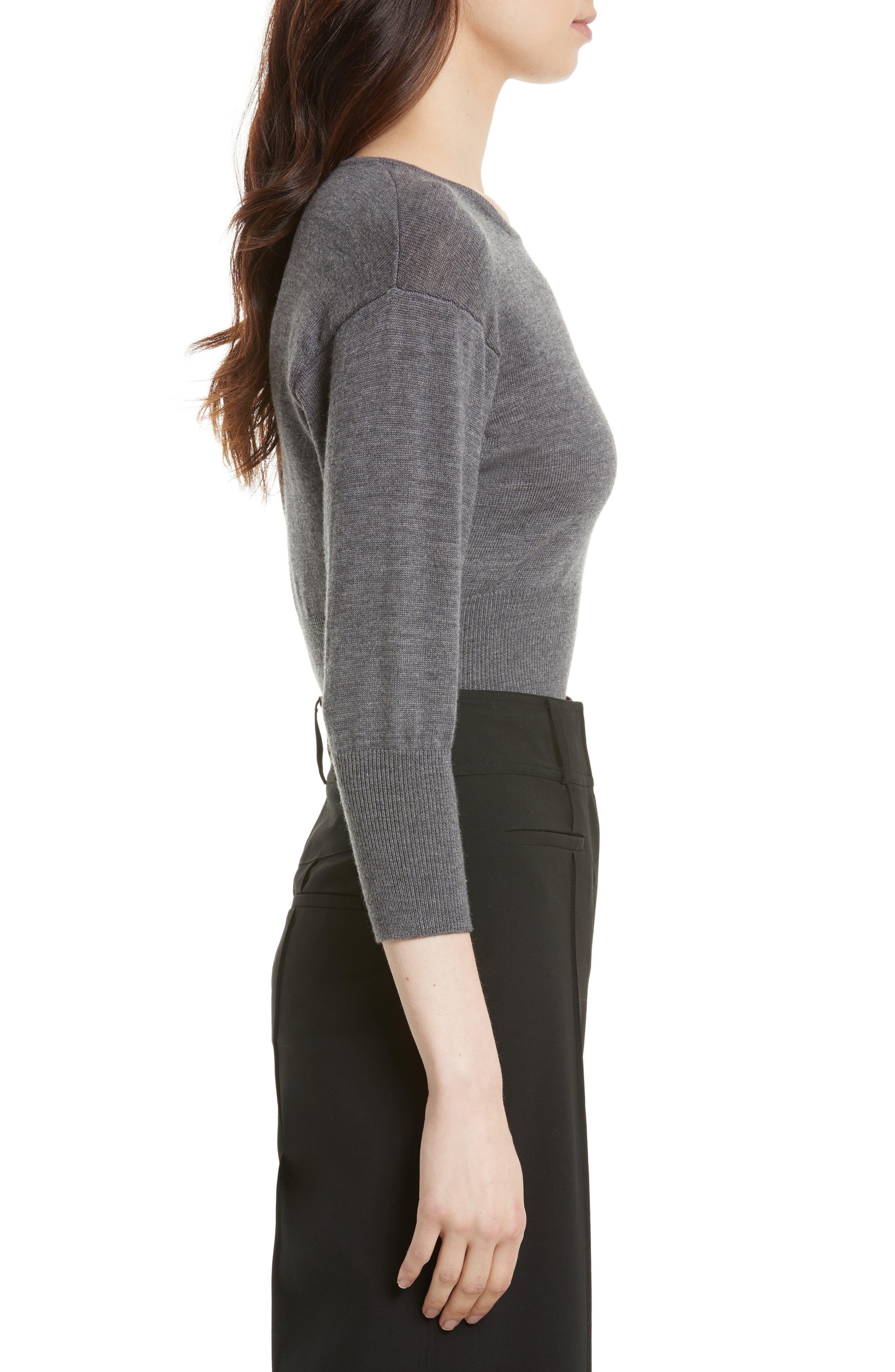 Merino Crop Sweater,                             Alternate thumbnail 3, color,
