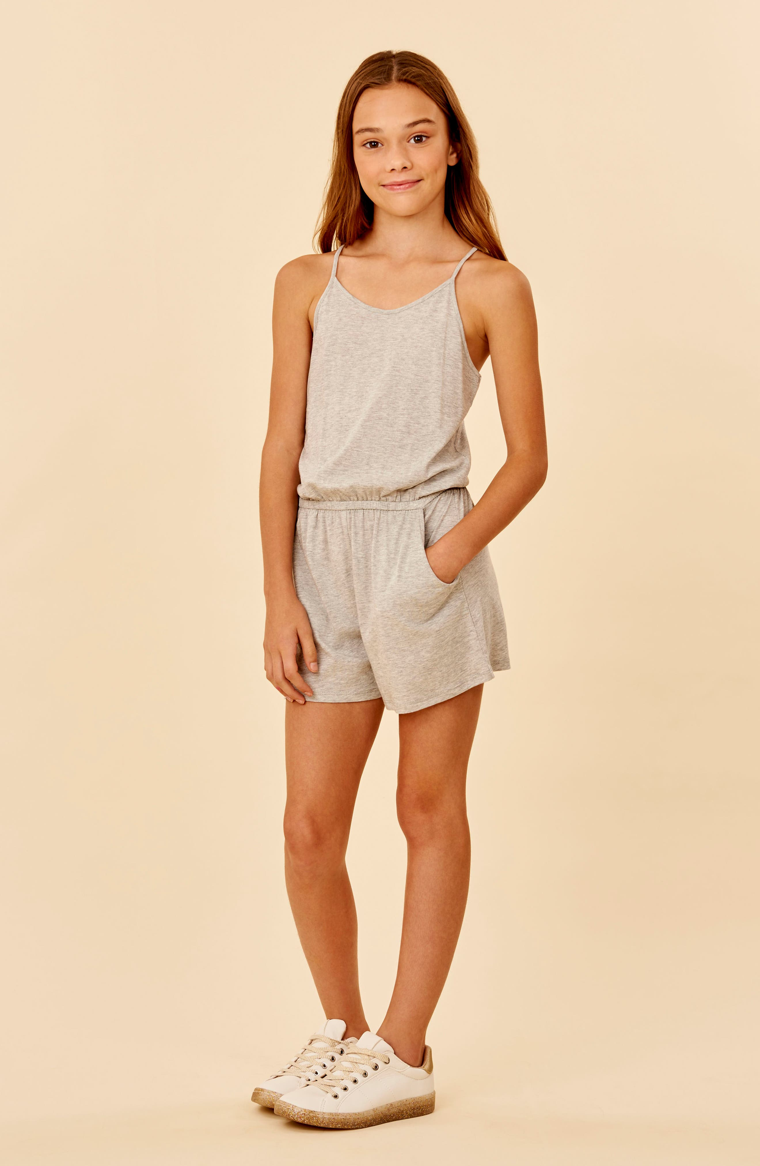 Girls Habitual Girl Corrie Cotton Blend Romper