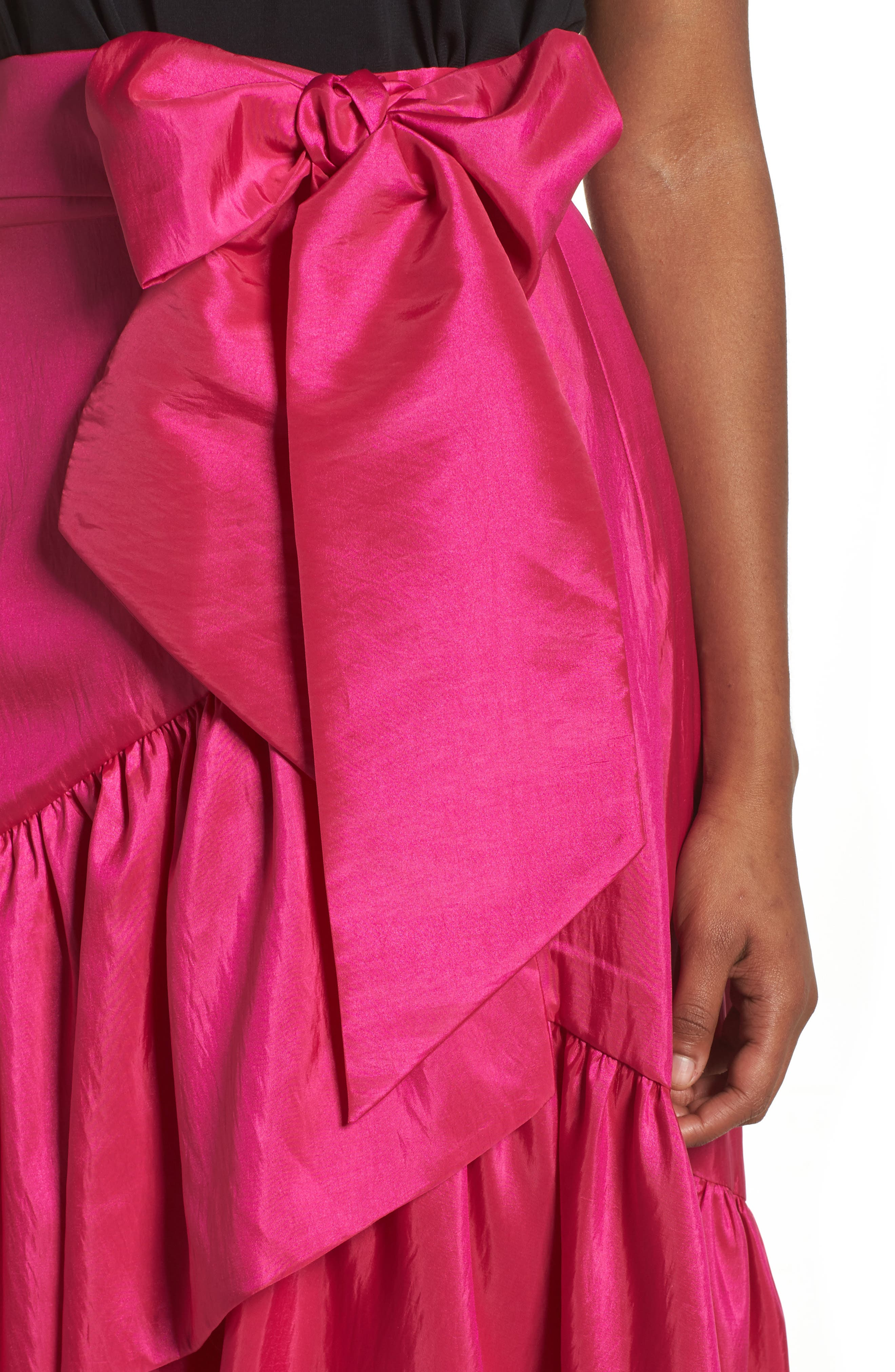Ruffled Faux Wrap Skirt,                             Alternate thumbnail 4, color,                             678