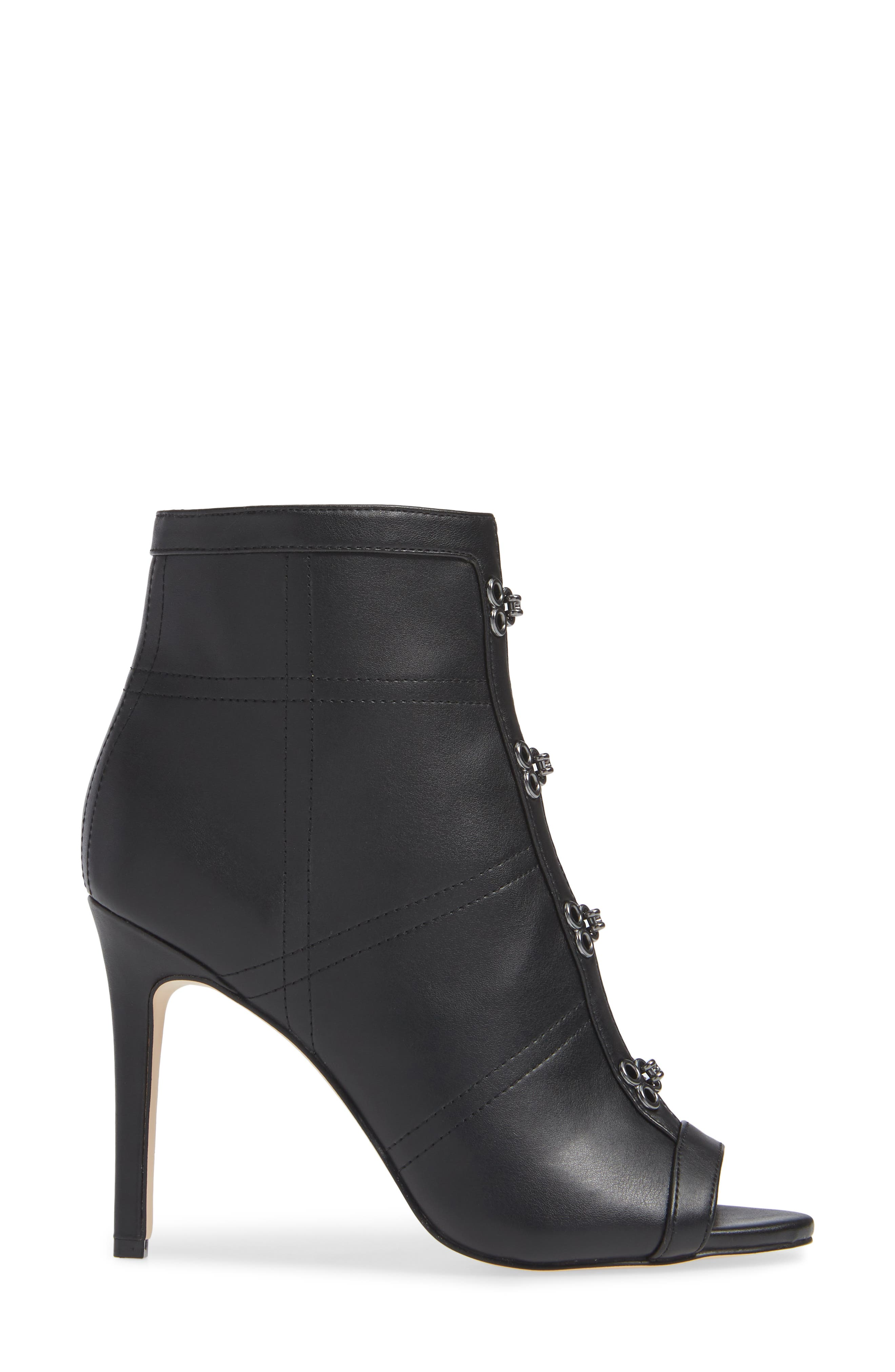 KATY PERRY,                             Open Toe Bootie,                             Alternate thumbnail 3, color,                             BLACK