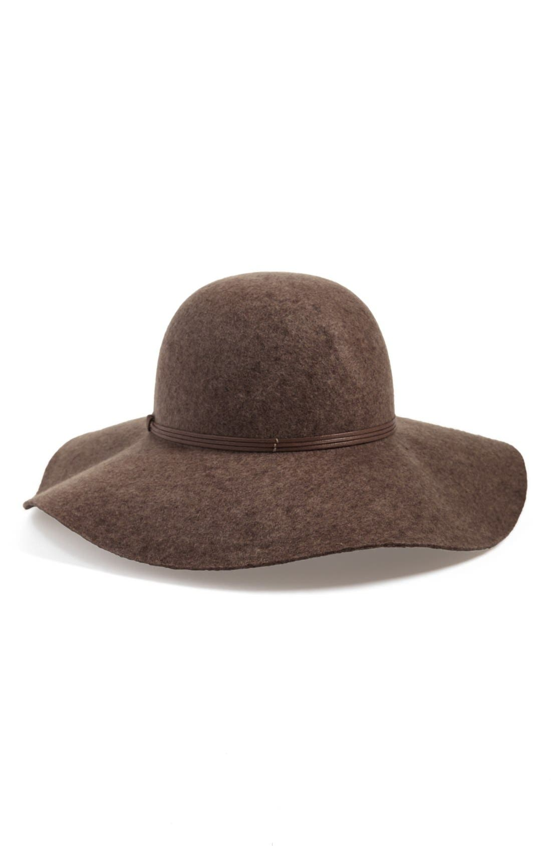 Floppy Wool Hat,                             Main thumbnail 3, color,