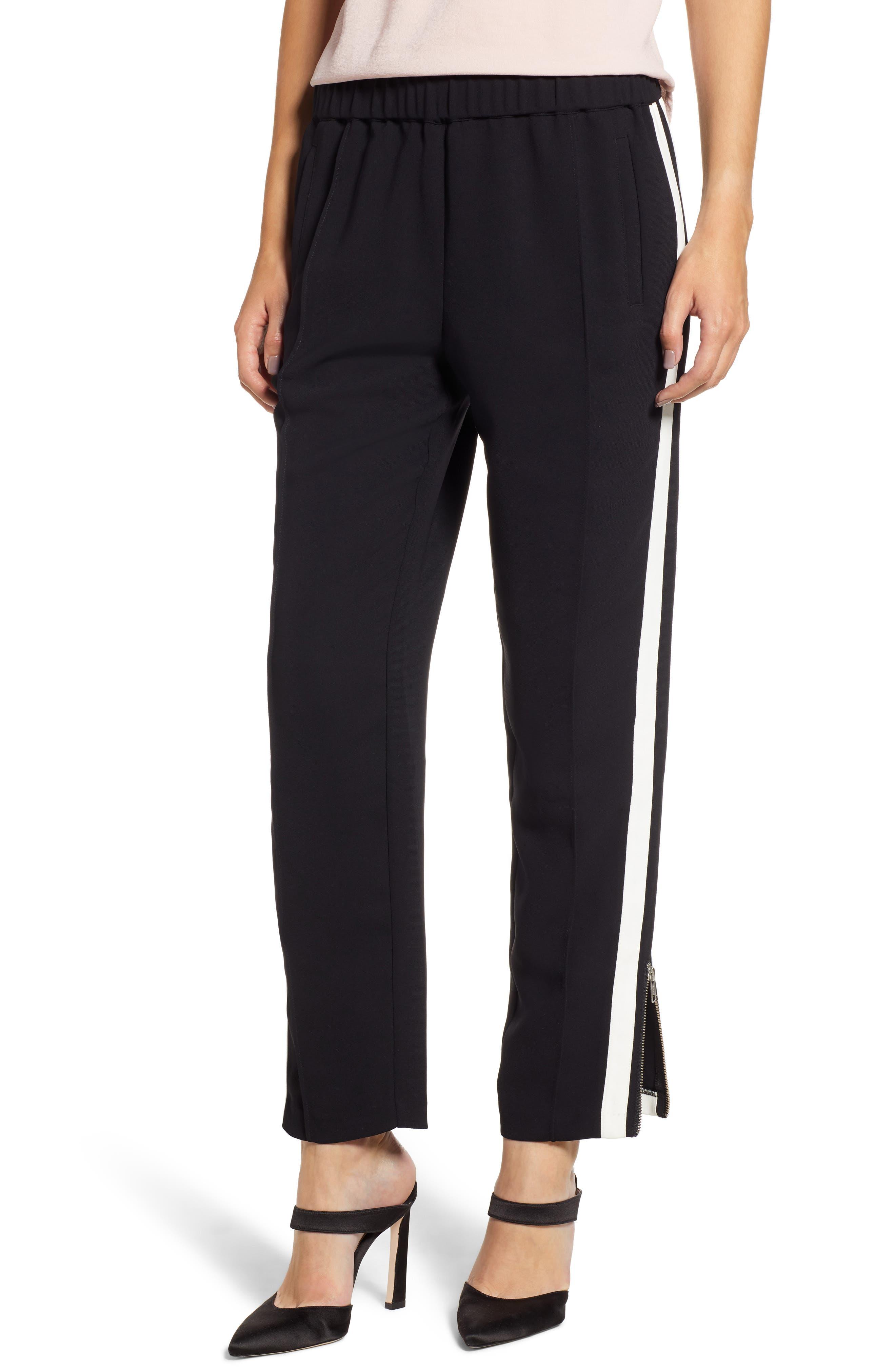 Side Stripe Track Pants,                             Main thumbnail 1, color,                             BLACK COMBO