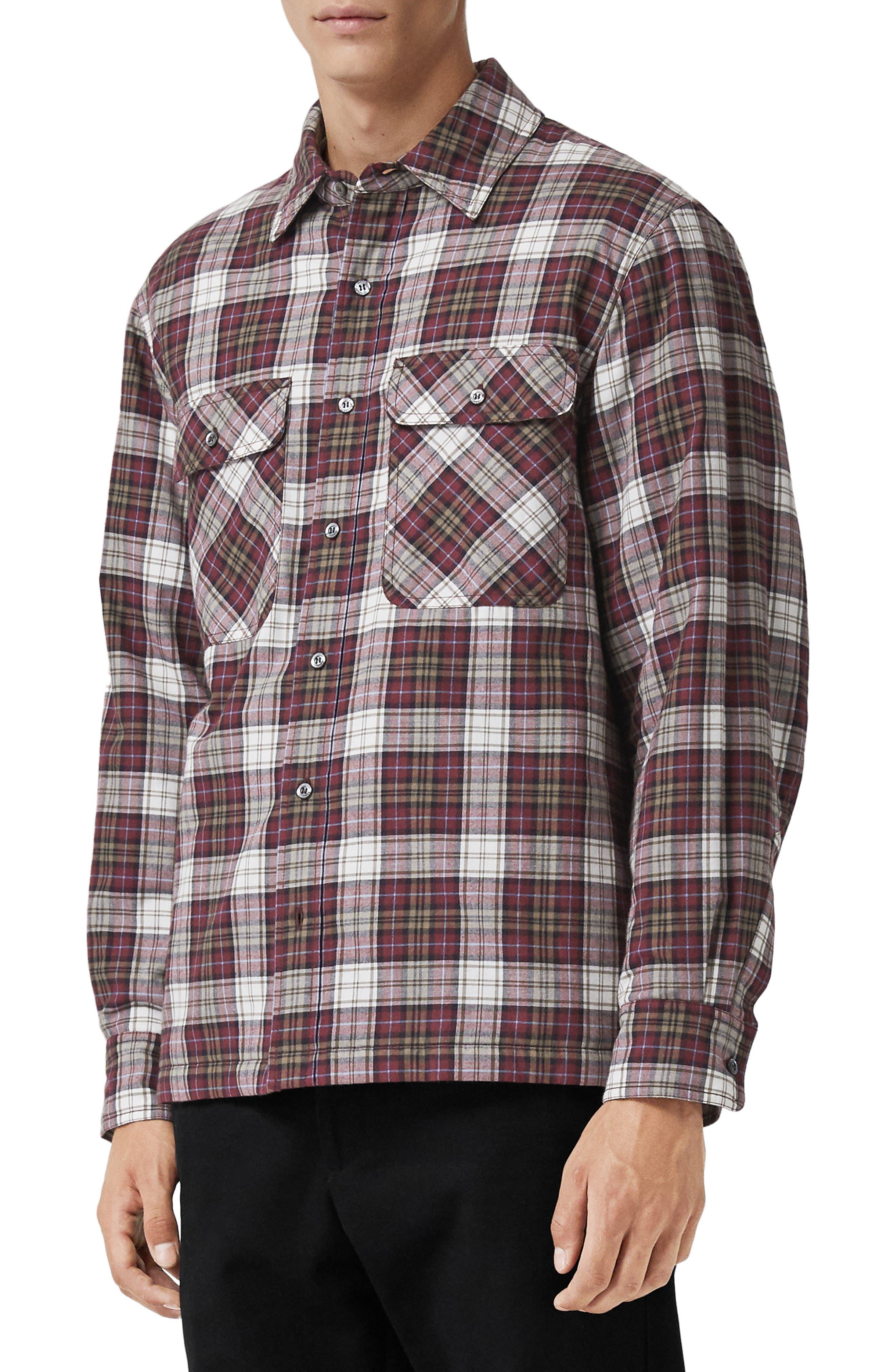 Barlow Plaid Flannel Shirt,                         Main,                         color, 600