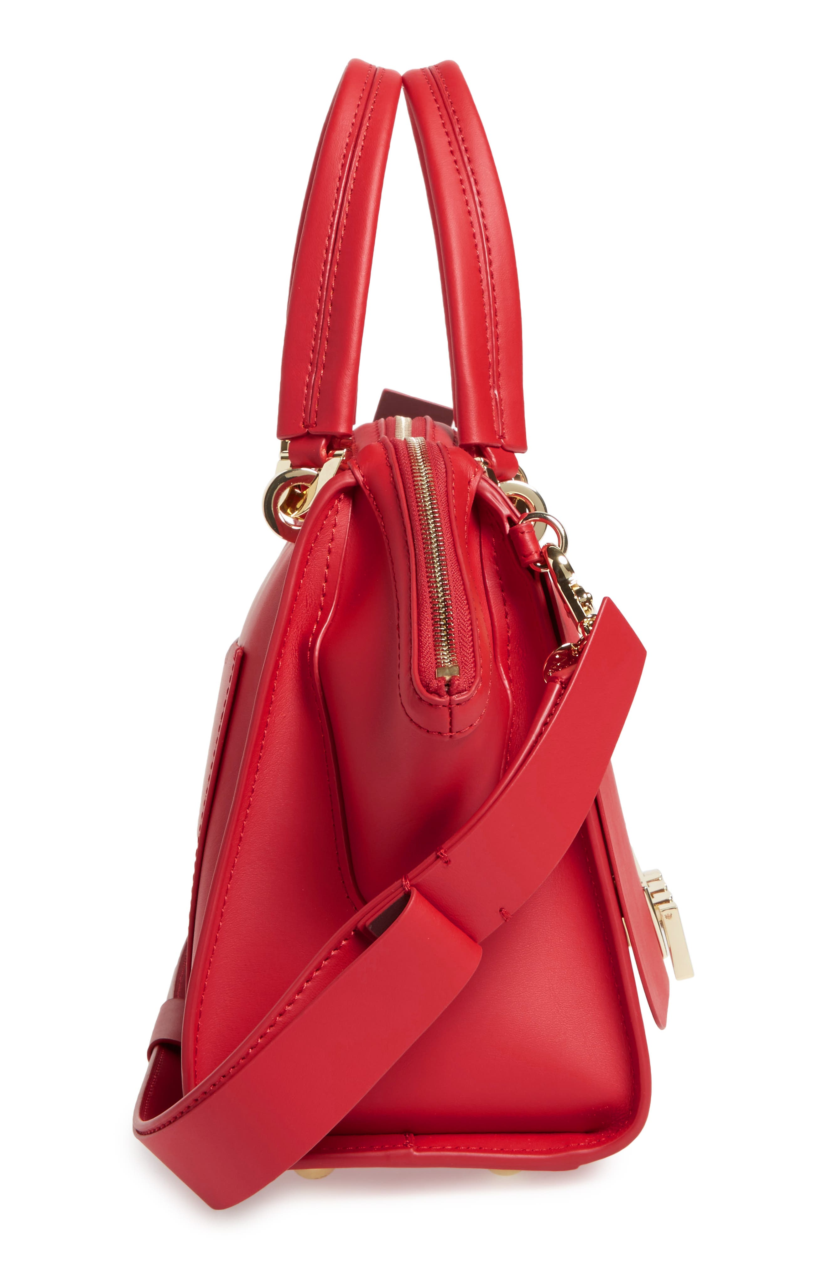 Eartha Iconic Calfskin Leather Double Handle Satchel,                             Alternate thumbnail 9, color,