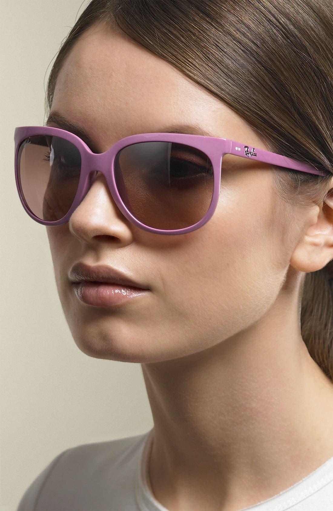Retro Cat Eye Sunglasses,                             Main thumbnail 7, color,