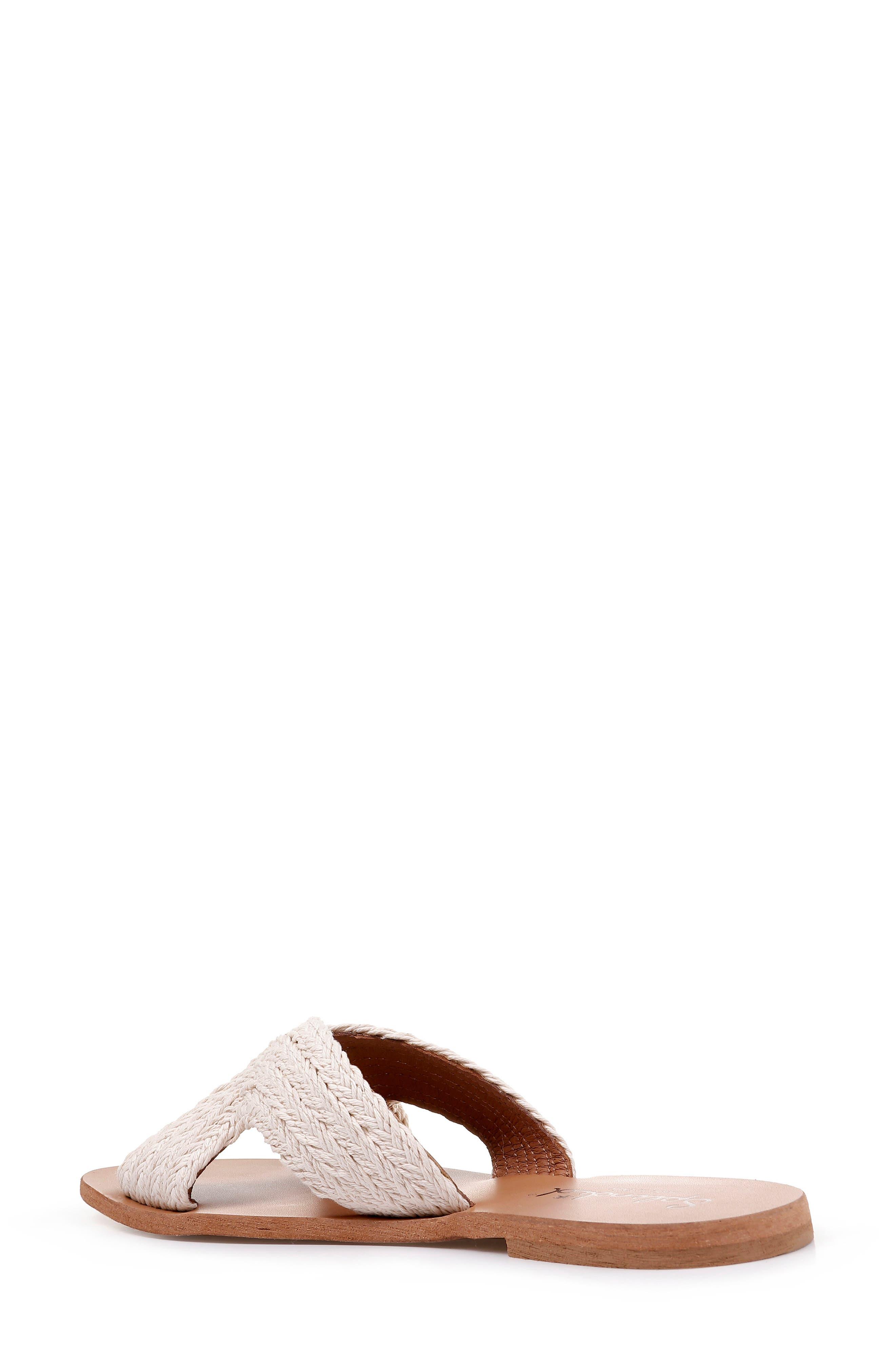 Sydney Woven Slide Sandal,                             Alternate thumbnail 2, color,                             CREAM FABRIC