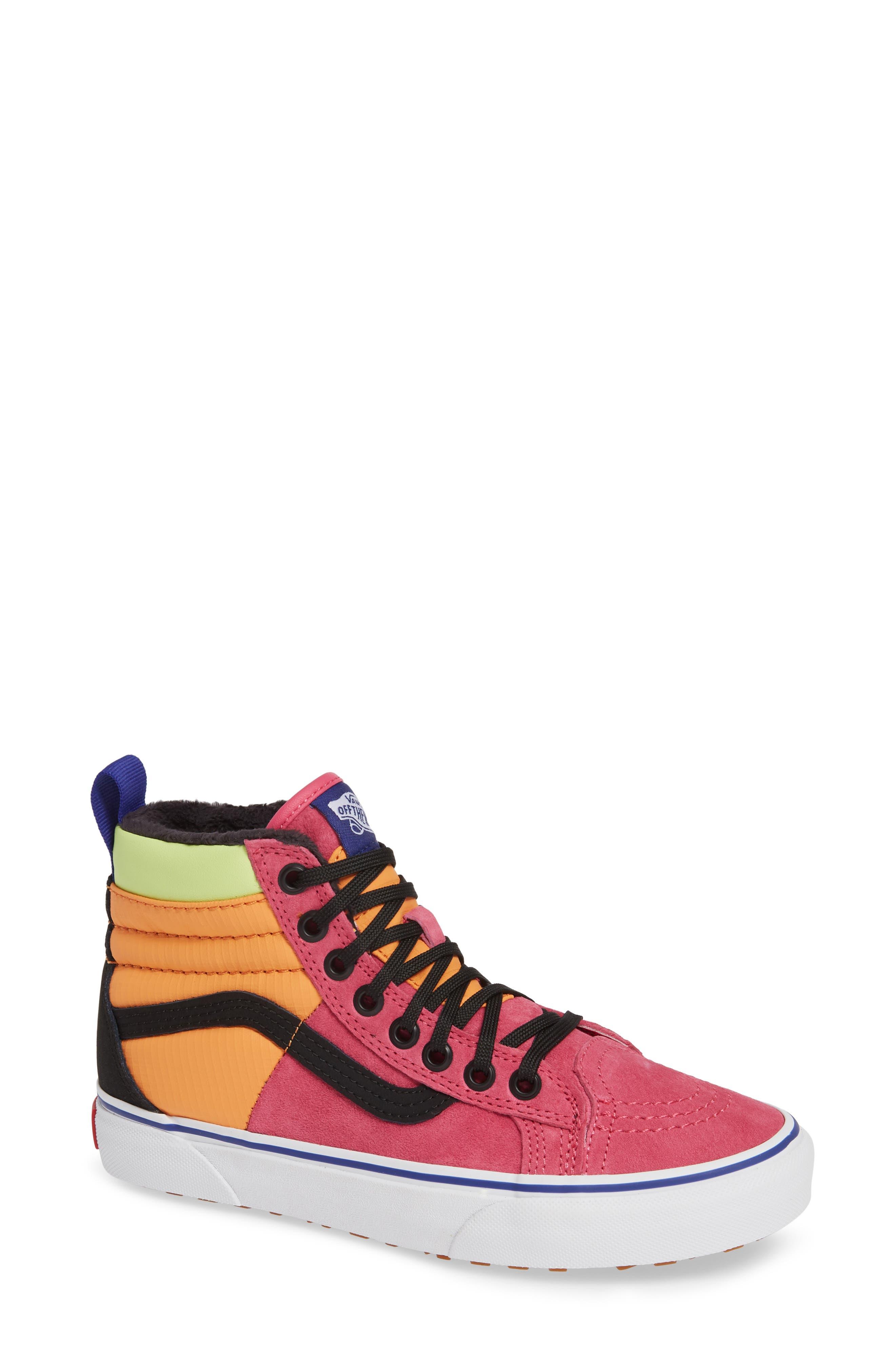 VANS,                             Sk8-Hi 46 MTE DX Sneaker,                             Main thumbnail 1, color,                             PINK YARROW/ TANGERINE/ BLACK